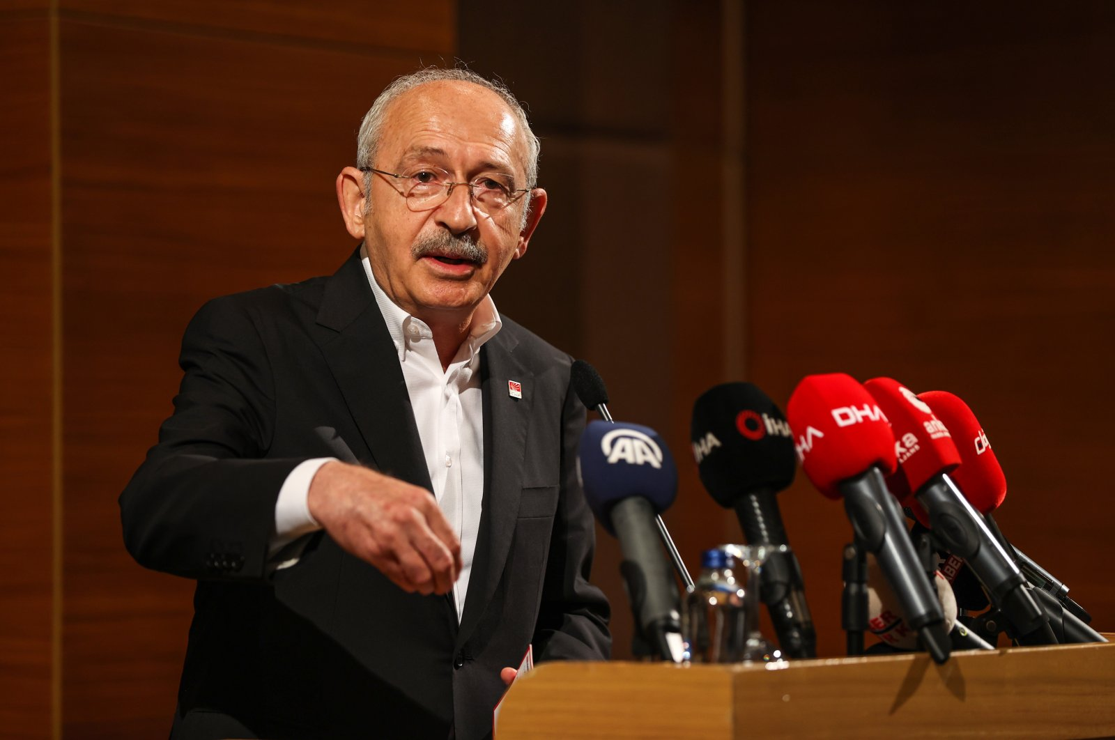 Kemal Kılıçdaroğlu, the main opposition Republican People's Party (CHP) chairperson speaking at a meeting in Istanbul, Turkey, July 31, 2021 (AA Photo)