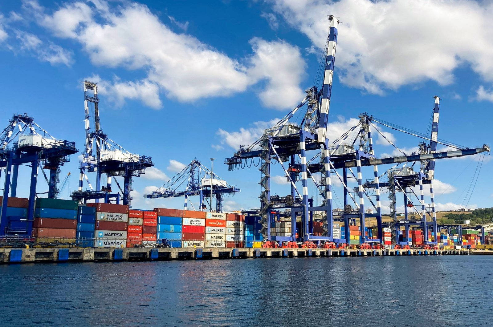 Containers carrying traded goods wait at the Port of Ambarlı, İstanbul, Turkey, July 17, 2020. (Shutterstock Photo)