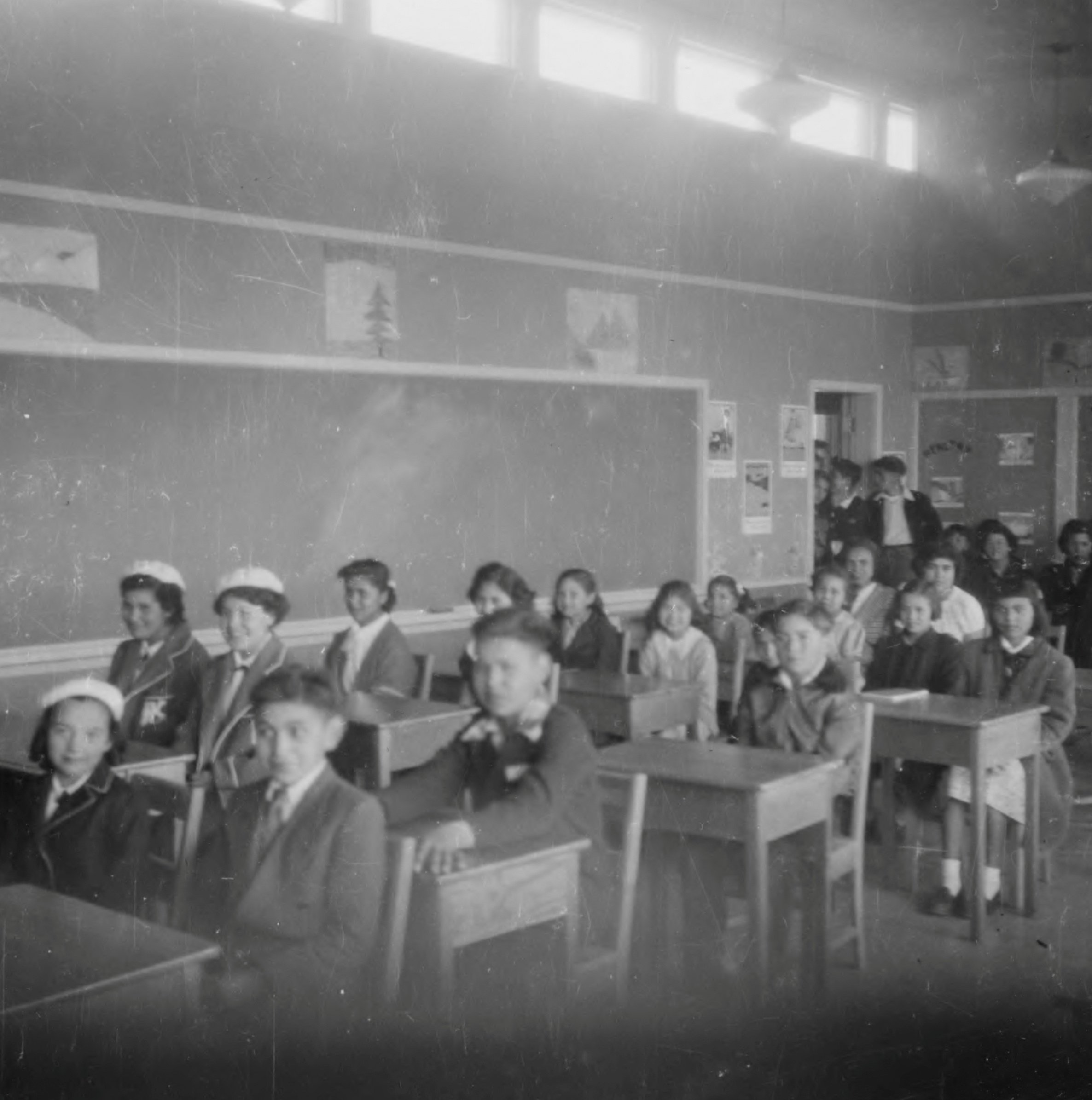 Students sit in a classroom at the Kuper Island Indian Residential School, which according to the National Center for Truth and Reconciliation, operated between 1890-1975, near Chemainus, British Columbia, Canada, in an undated photograph. (REUTERS Photo)