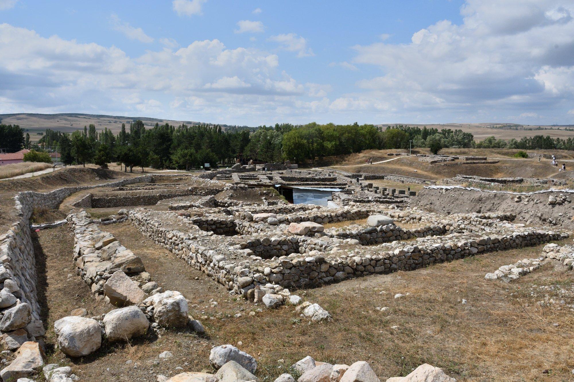 A general view of Alacahöyük, Çorum, central Turkey, Aug. 3, 2021. (AA Photo)