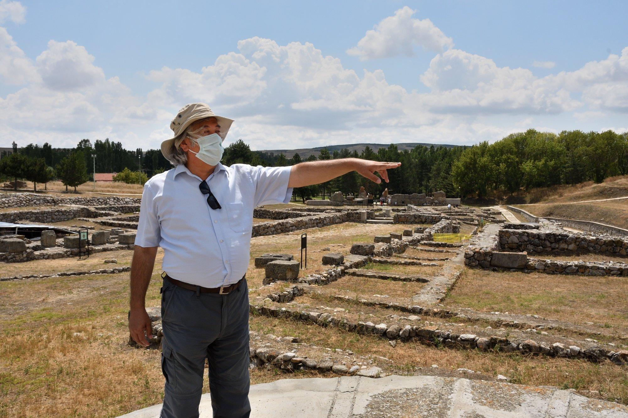 Professor Tayfun Yıldırım poses in Alacahöyük, Çorum, central Turkey, Aug. 3, 2021. (AA Photo)