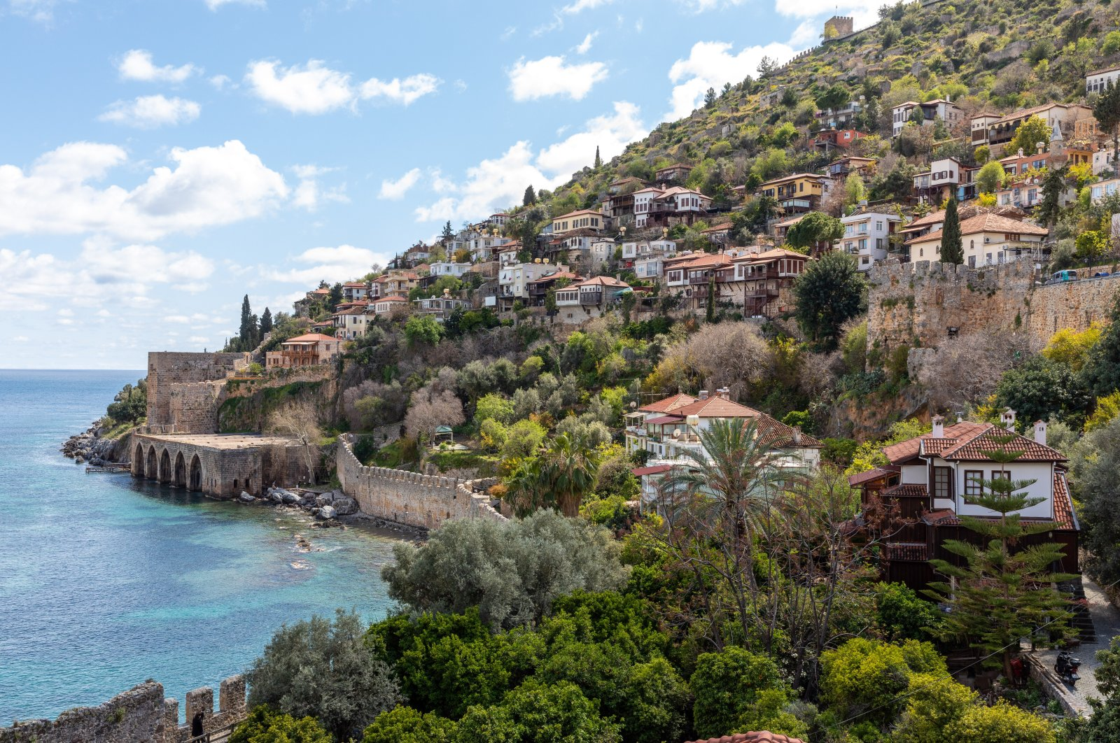 Exterior view of houses in Alanya, Turkey. (Shutterstock Photo)