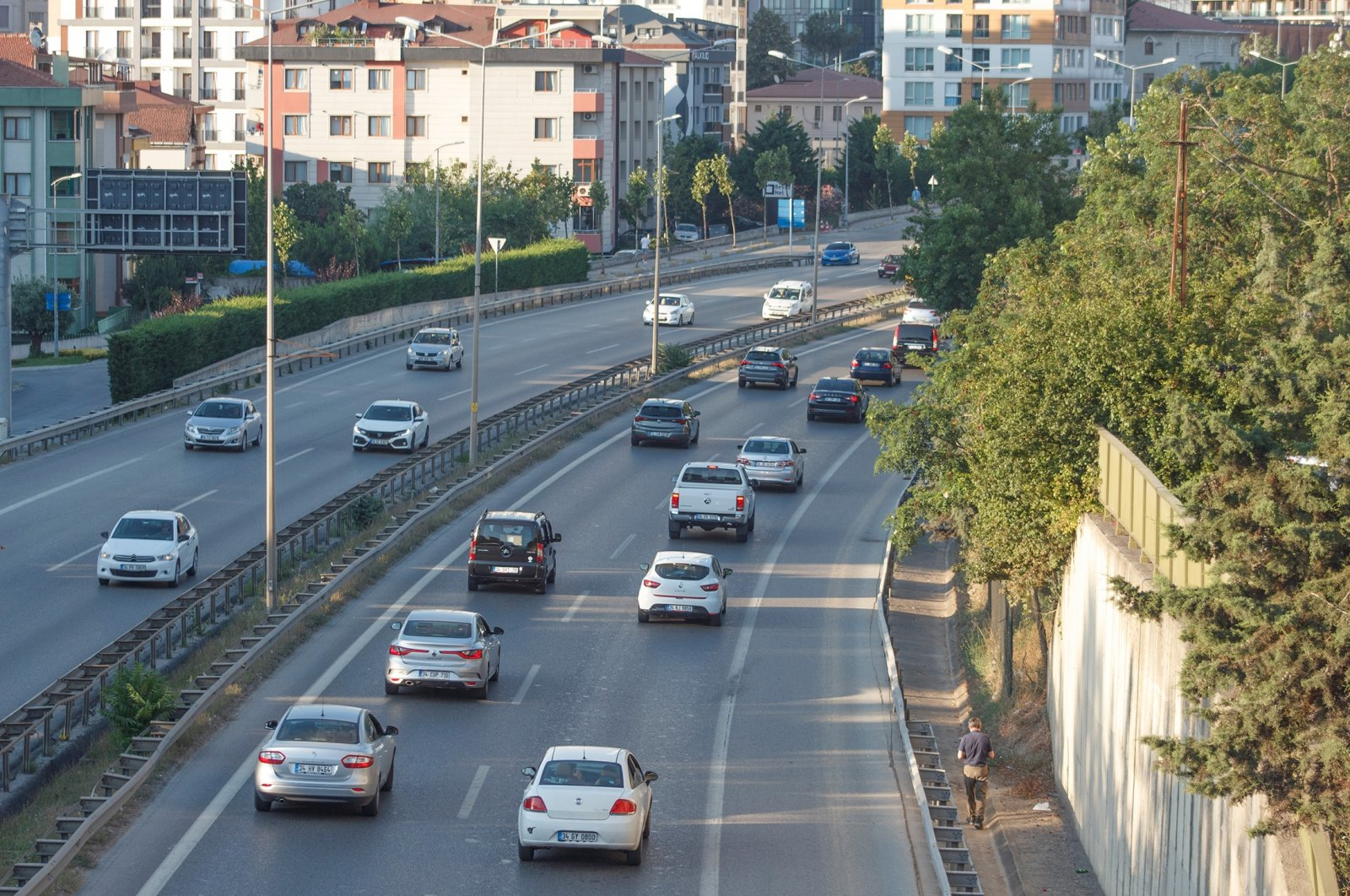Vehicles seen on a highway in Istanbul, Turkey, July 20, 2021. (Shutterstock Photo)