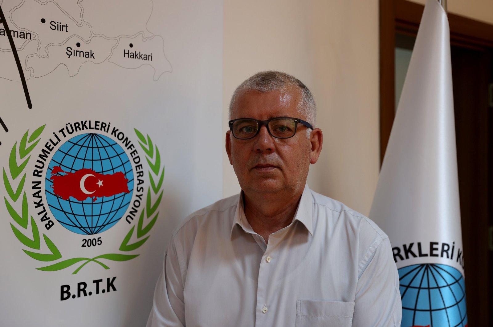 The Balkan Rumeli Turks Confederation (BRTK) Zülfettin Hacıoğlu, Aug. 3, 2021. (AA Photo)