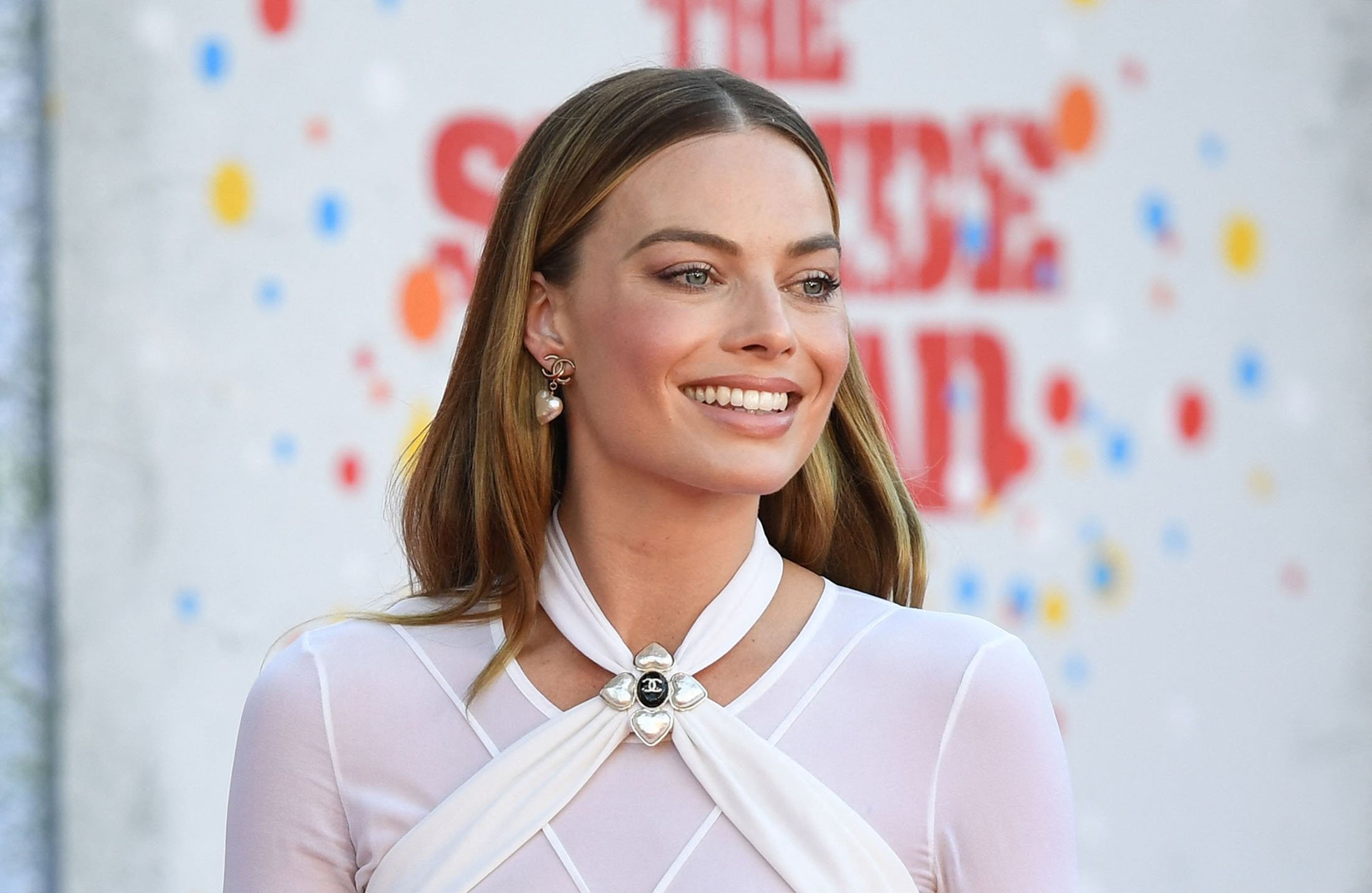 Australian actress Margot Robbie arrives for the premiere of 'The Suicide Squad' at Regency Village Theatre in Los Angeles, California, U.S., Aug. 2, 2021. (AFP Photo)