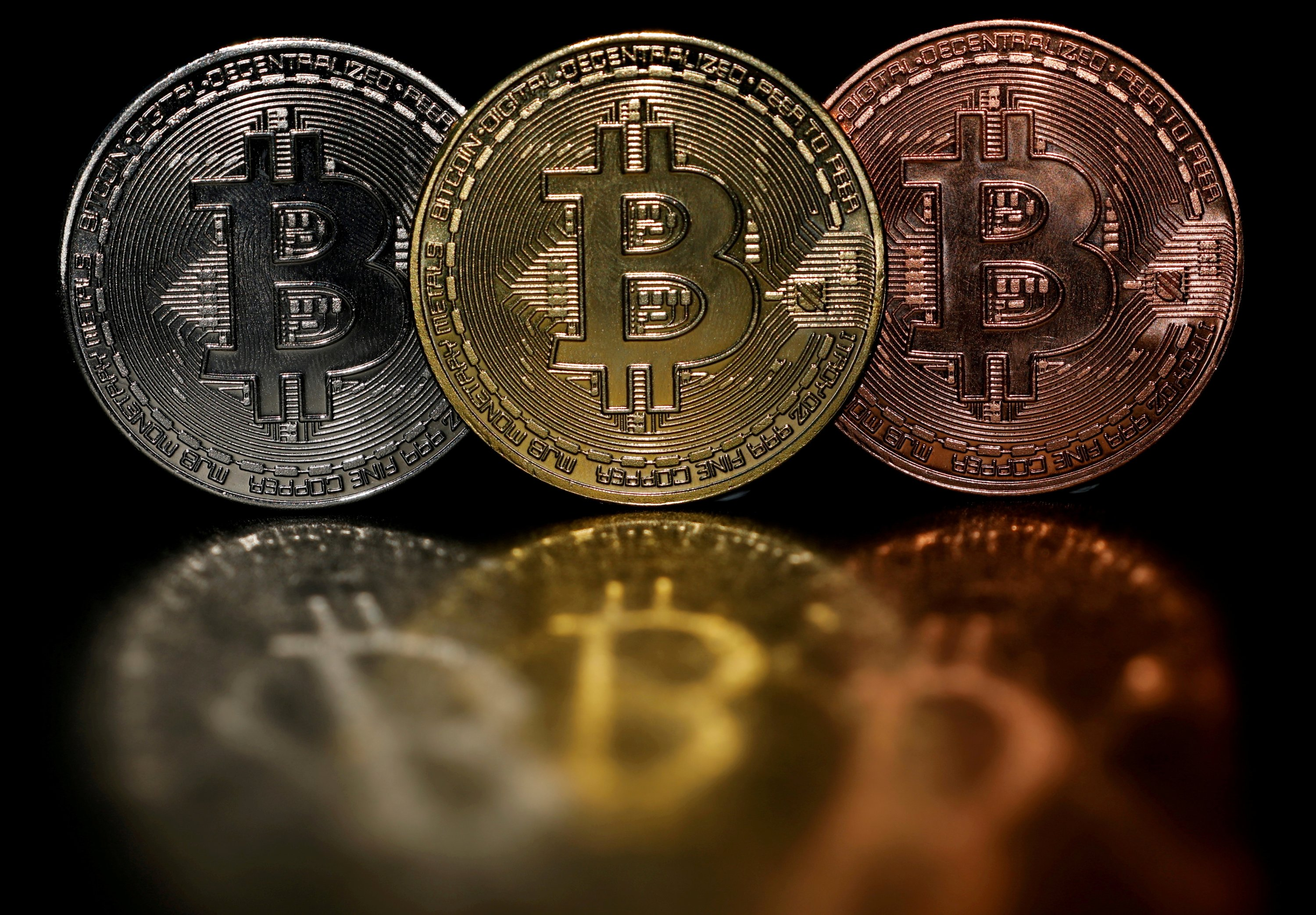 Representations of cryptocurrency Bitcoin are seen in this picture illustration taken on June 7, 2021. (Reuters Photo)