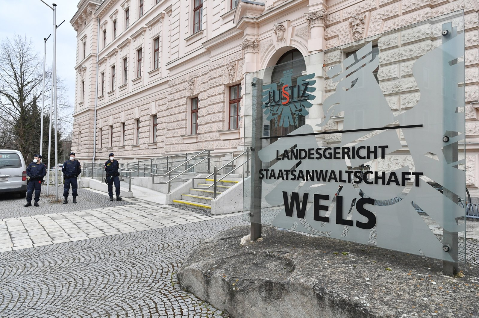 Outside view of the Regional Court Wels on March 23, 2021 in Wels, Austria. (Getty Images)