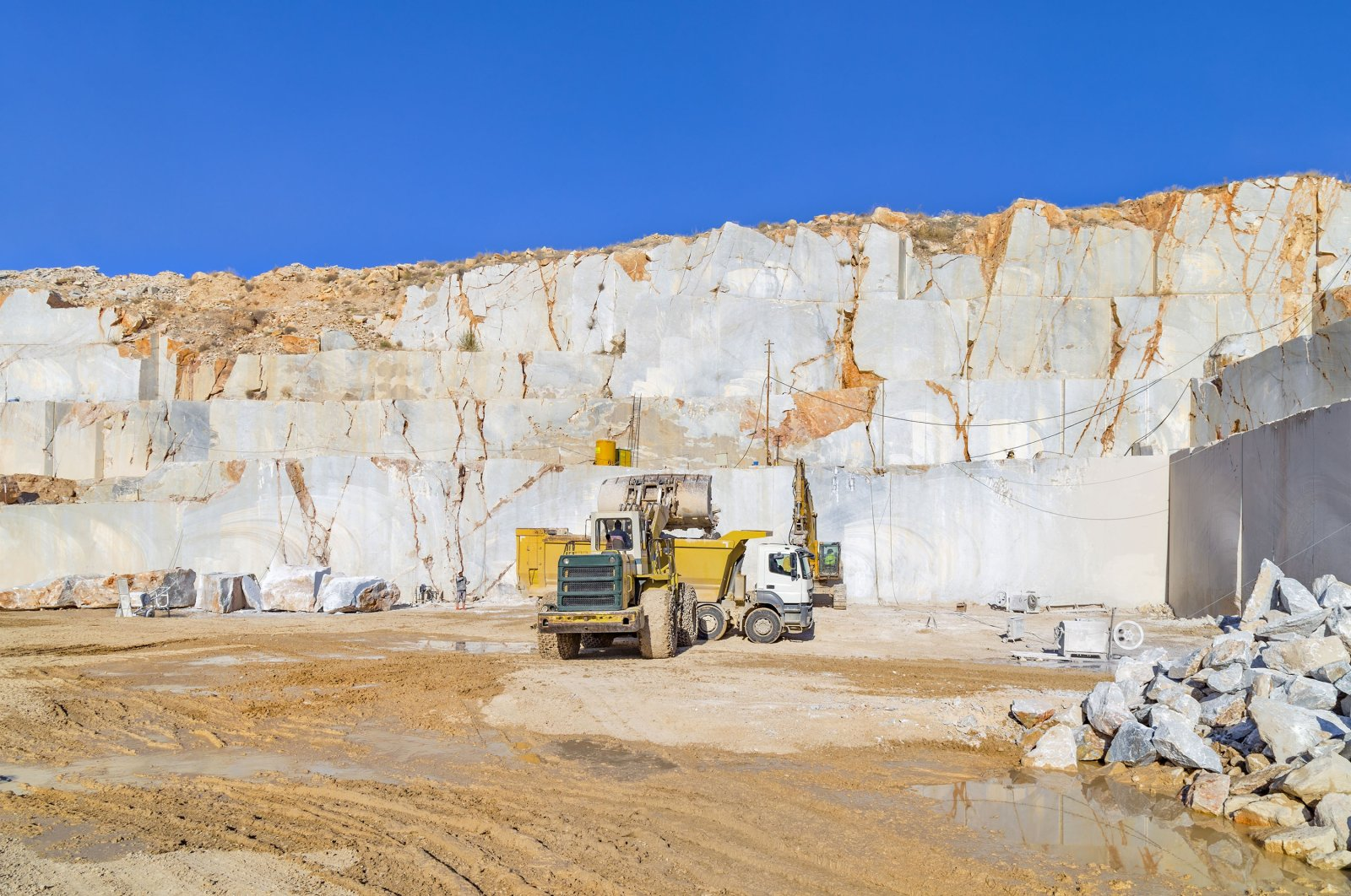 A marble quarry site seen in this undated file photo in Afyonkarahisar, Turkey. (Shutterstock Photo)