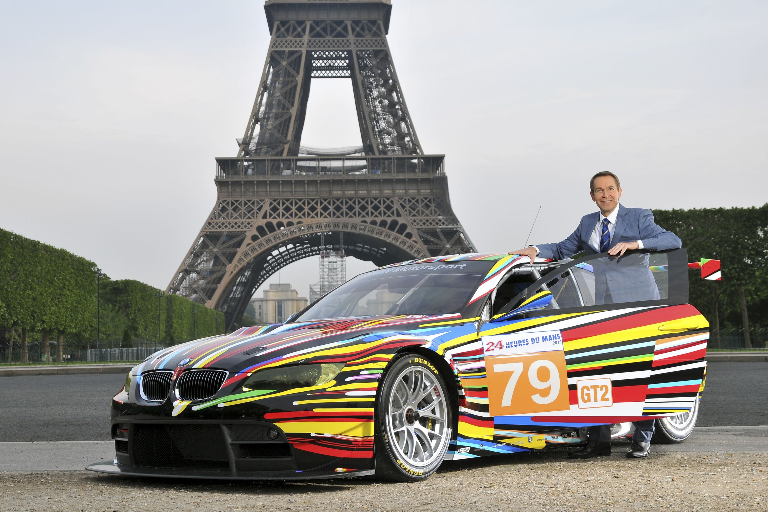 Drive through a rainbow? The design of this BMW M3GT2 comes from artist Jeff Koons. (DPA Photo)