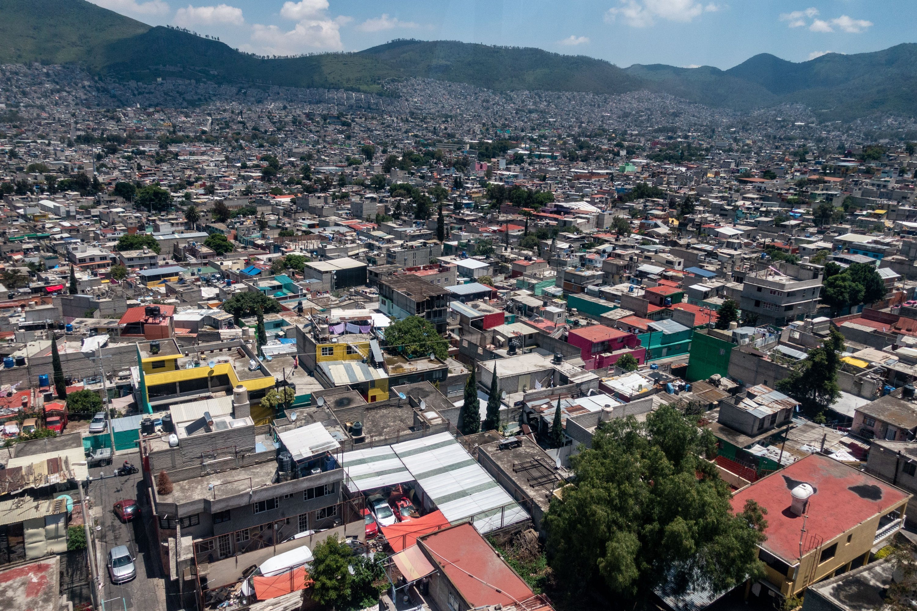 An aerial view of the Gustavo A. Madero neighborhood in Mexico City, Mexico, July 19, 2021. (Photo by Getty Images)