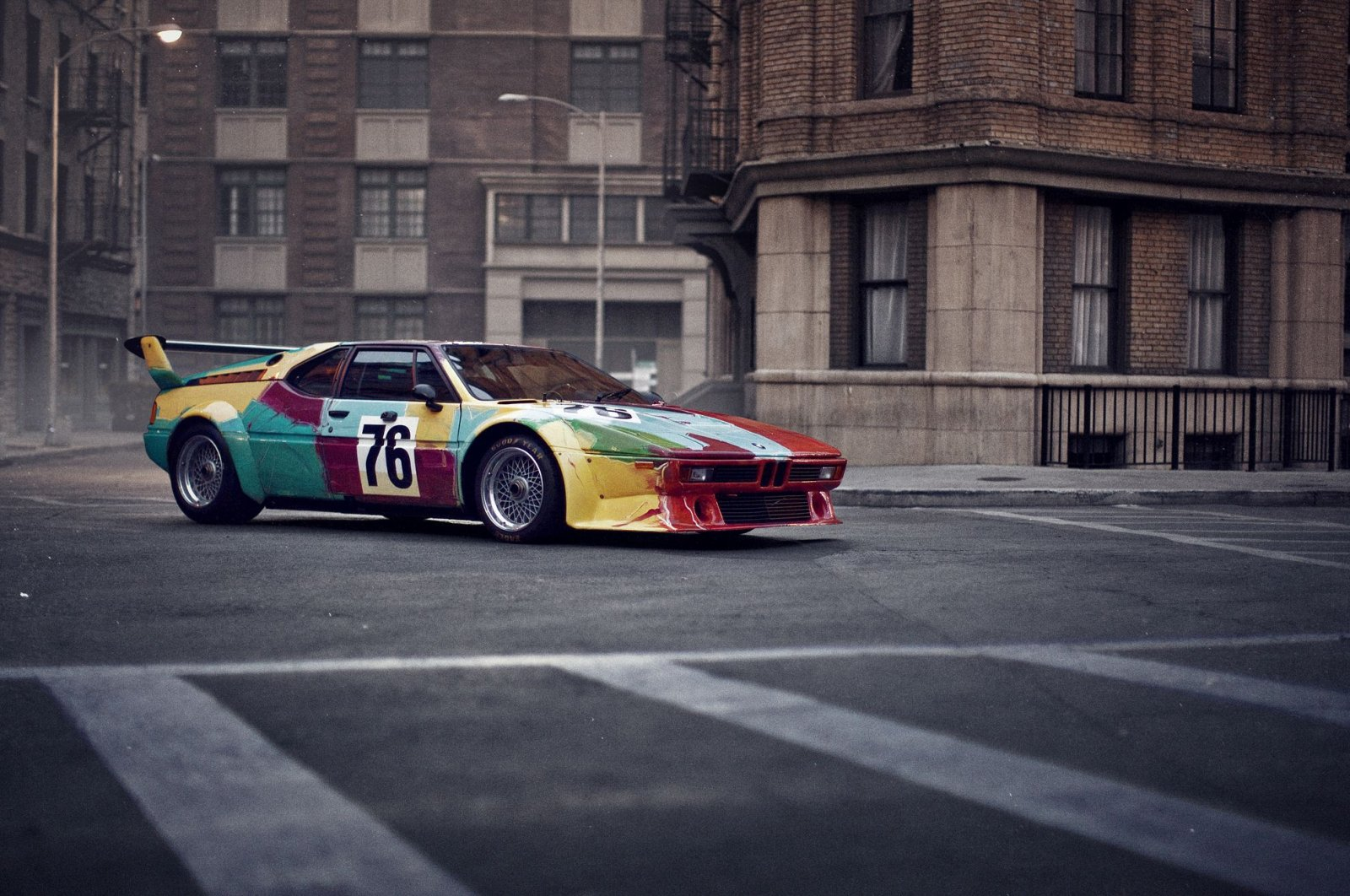 Just a colorful BMW? Art lovers will recognize a genuine Andy Warhol worth millions on this M1. Photo. (DPA Photo)