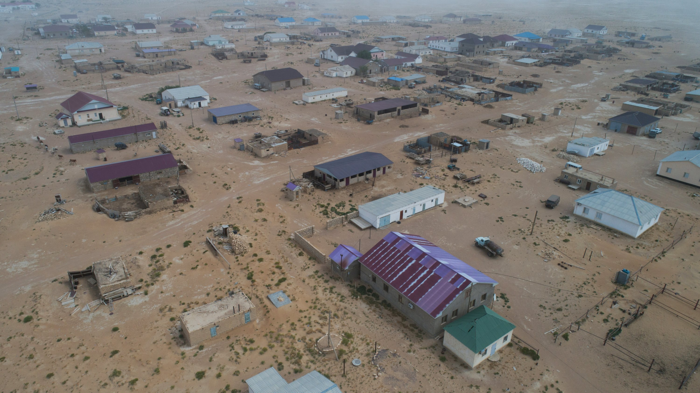 A view shows the village of Akshymyrau amid severe drought in Mangistau Region, Kazakhstan, on July 27, 2021. (Reuters Photo)