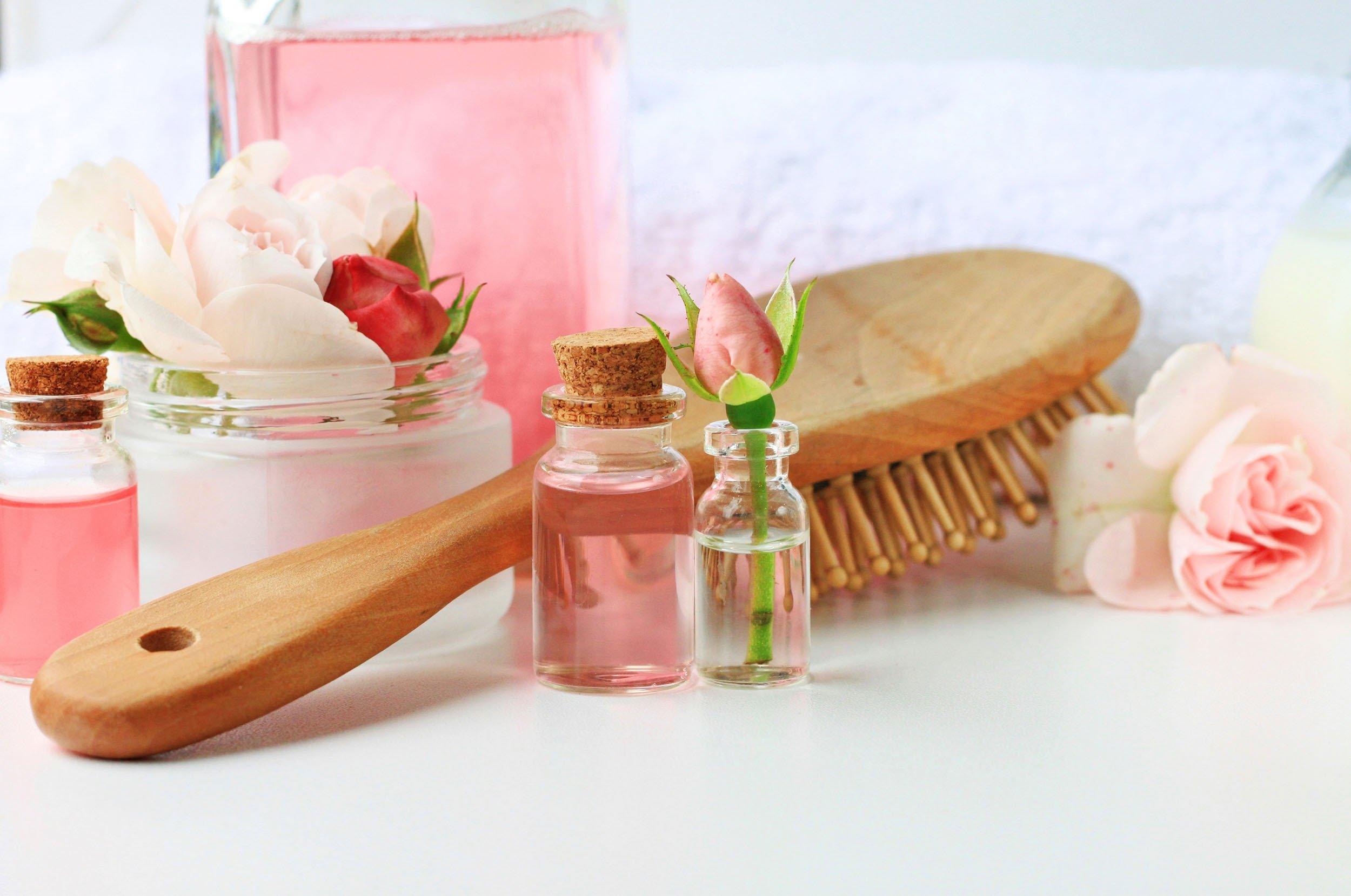 Rose water acts as an ingredient in hair serums due to its antibacterial properties.  (Photo Shutterstock)