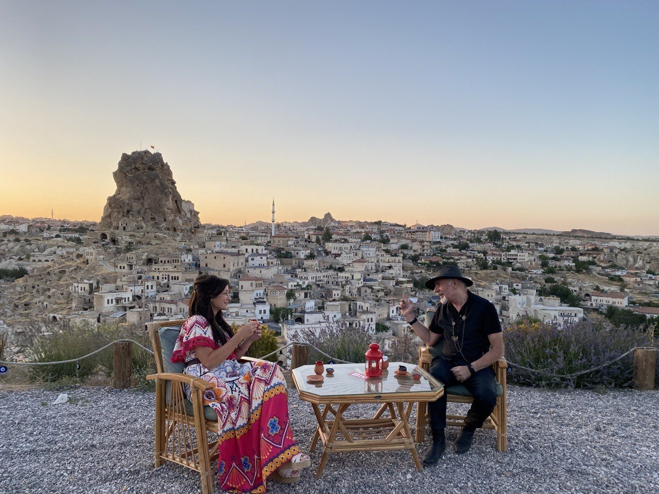 """A shot from the filming of the """"Turkish Coffee Tales of Anatolia"""" documentary in central Nevşehir province. (AA Photo)"""
