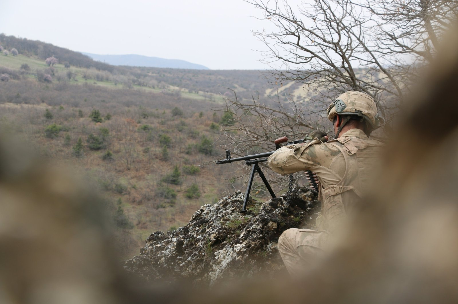 A Turkish soldier participates in Operation Eren-7 in Tunceli province, Turkey in this undated photo. (IHA File Photo)