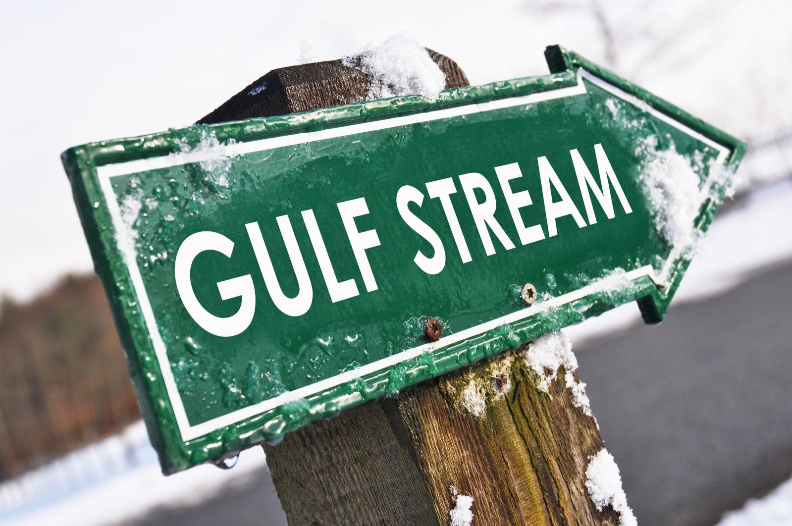 The Gulf stream road sign. (Shutterstock Photo)