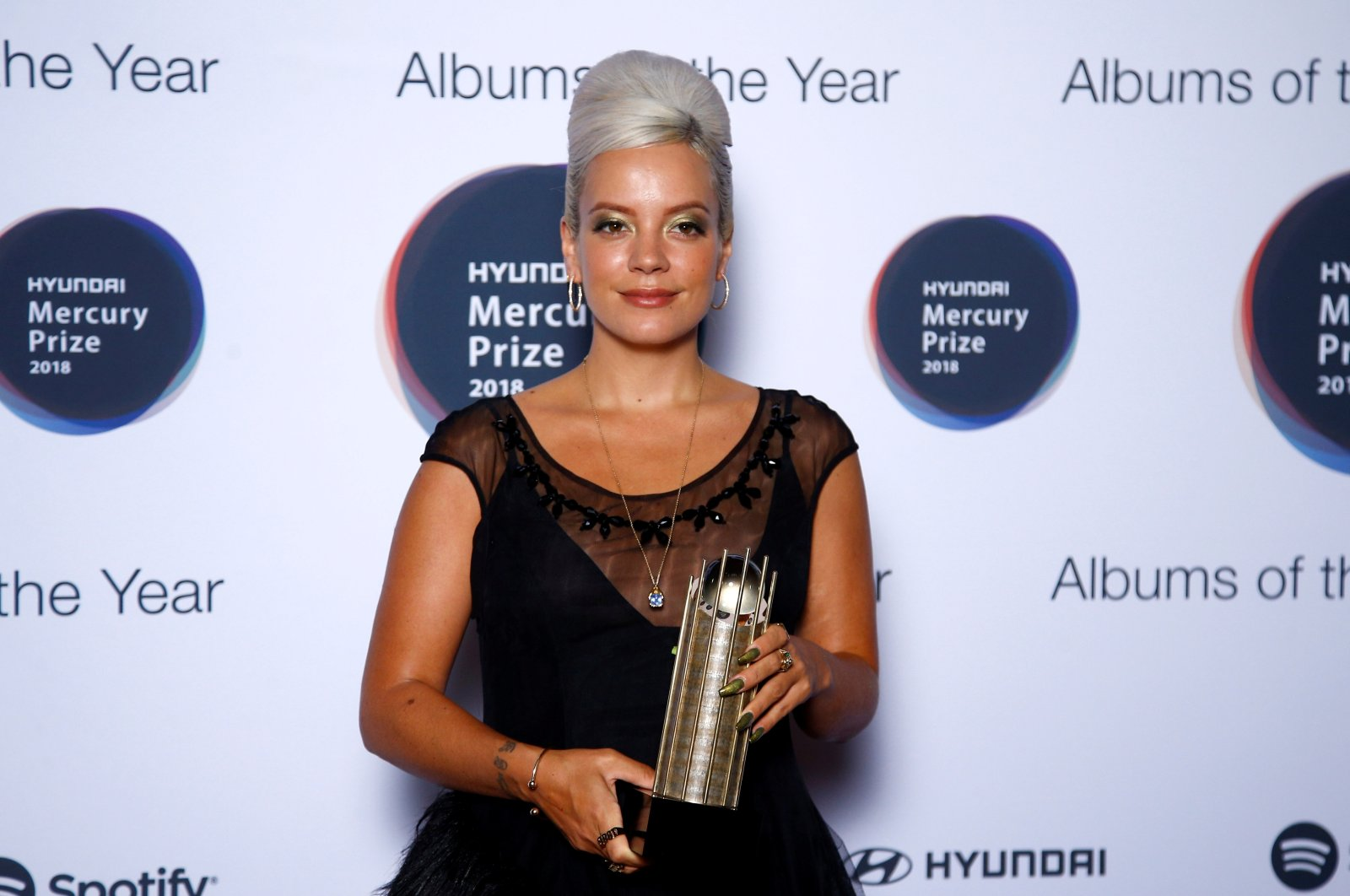 """Lily Allen, whose album """"No Shame"""" was nominated for the Mercury Prize 2018, poses for a photograph ahead of the ceremony at the Hammersmith Apollo in London, Britain, Sept. 20, 2018. (REUTERS Photo)"""