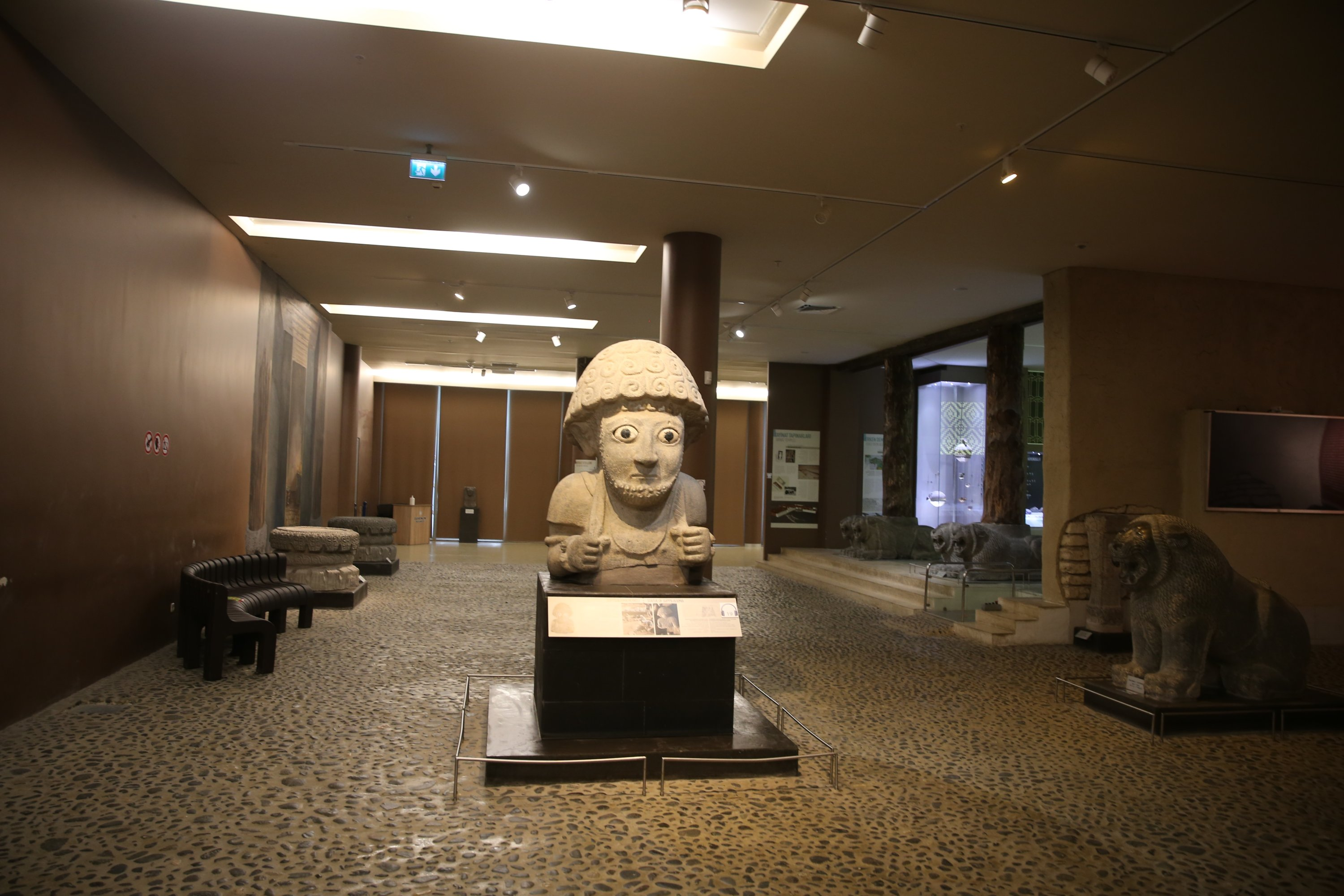 The statue belonging to King Suppiluliuma in the Hatay Archaeological Museum, southern Turkey, August 8, 2021. (AA Photo)