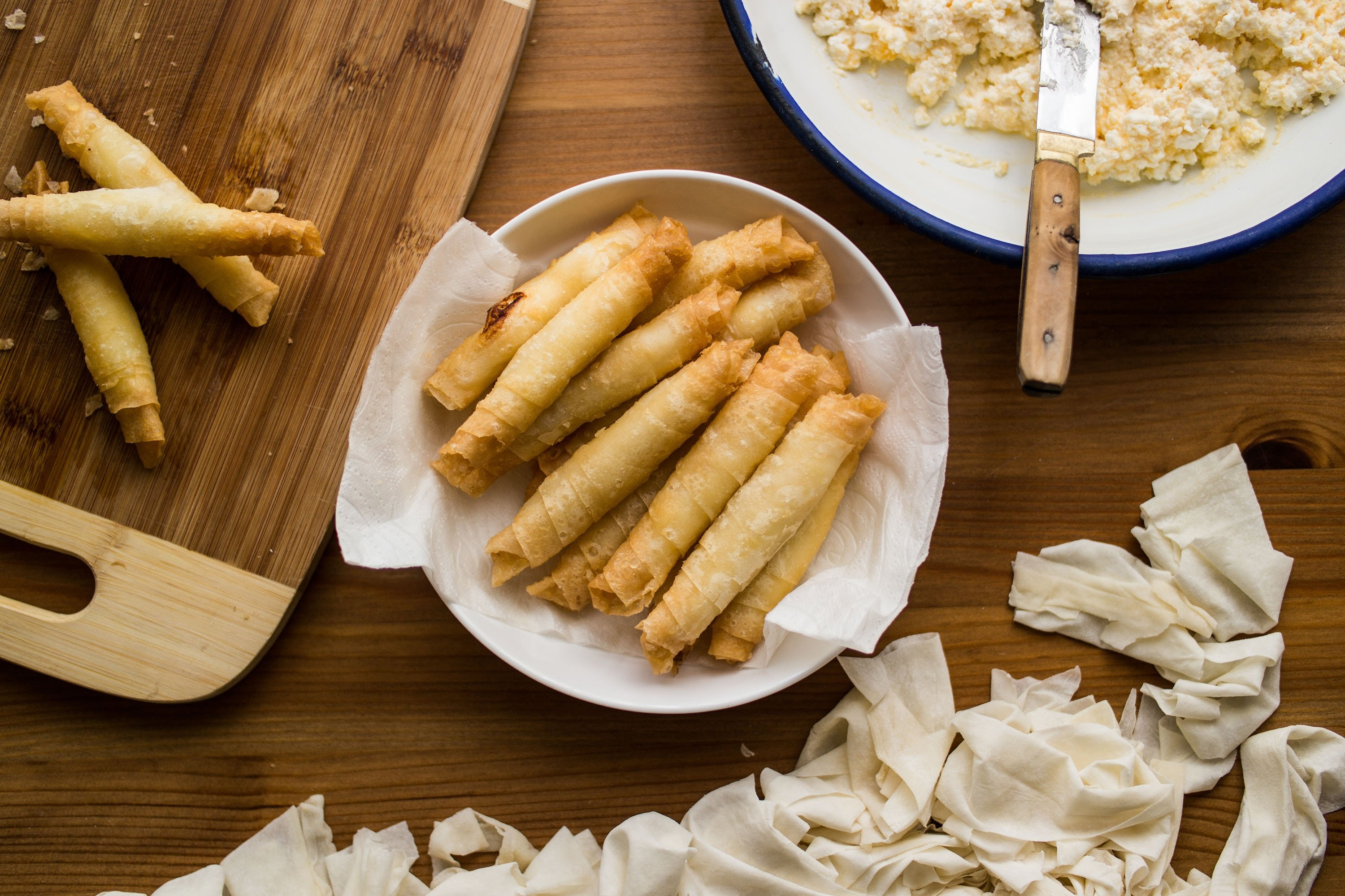Sigara böreği can be prepared with various fillings. (Shutterstock Photo)