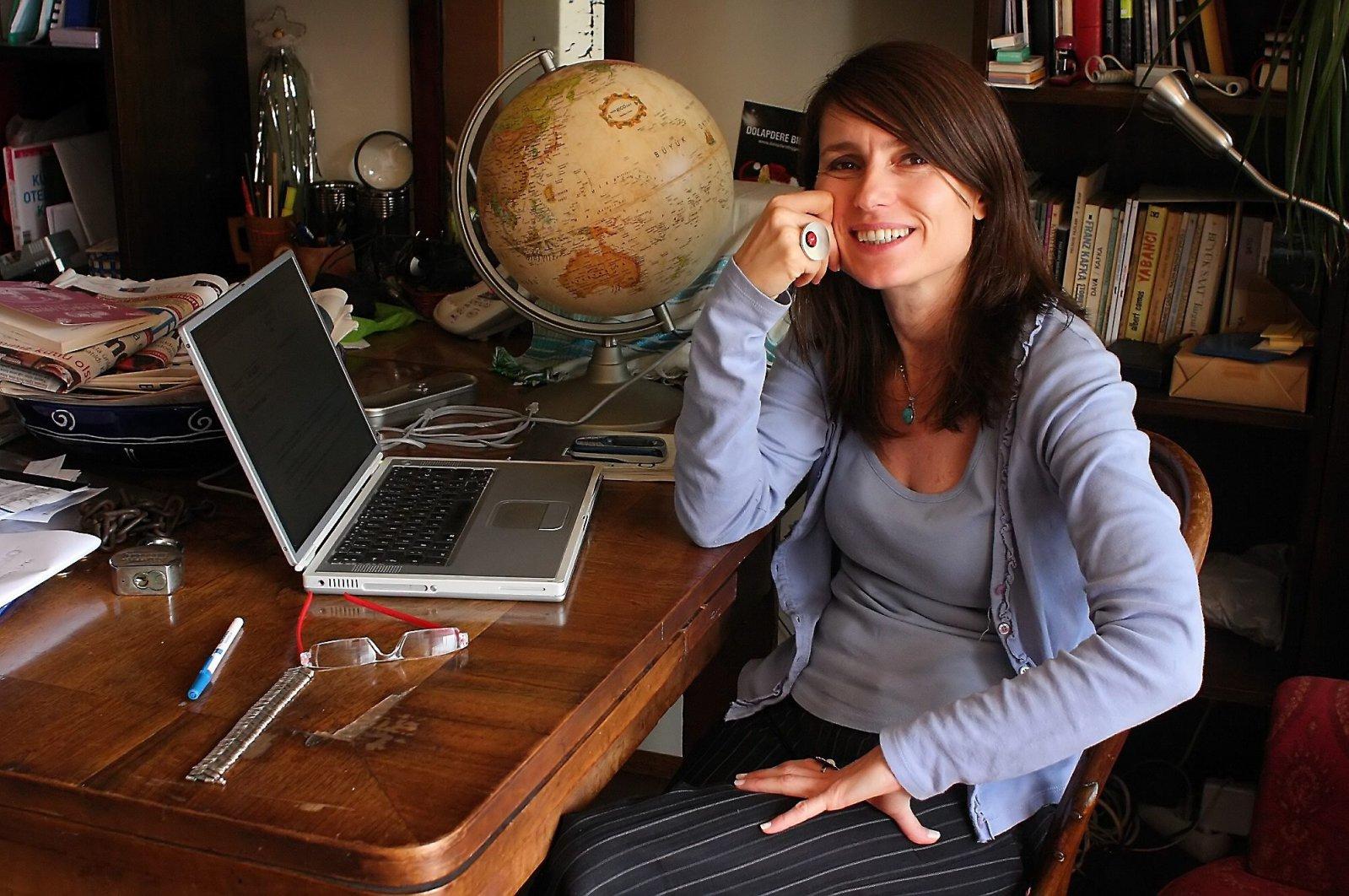 Director Yeşim Ustaoğlu poses in her workroom in Istanbul, Turkey. (Sabah File Photo)