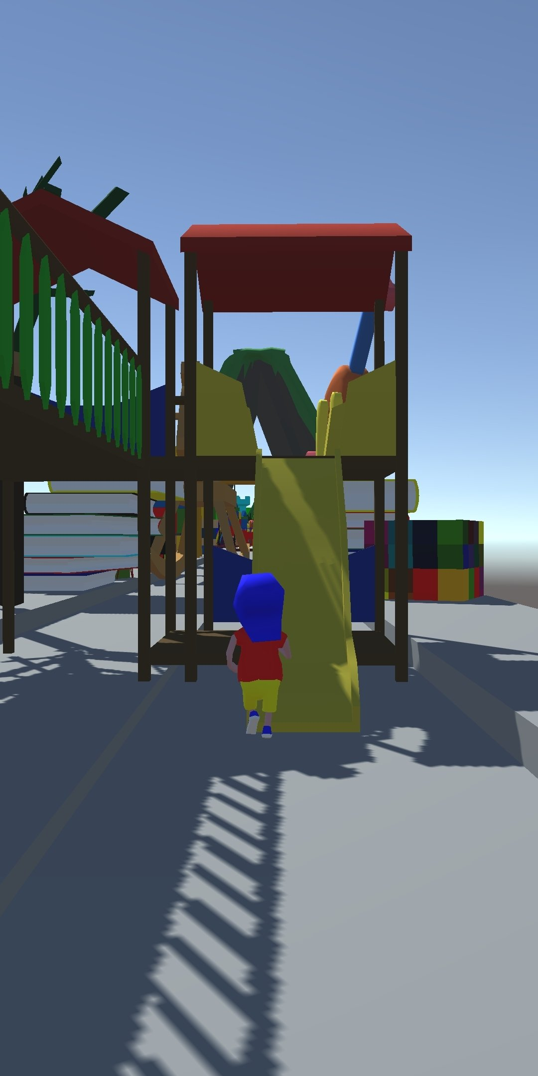 A screenshot from the parkour-based game.