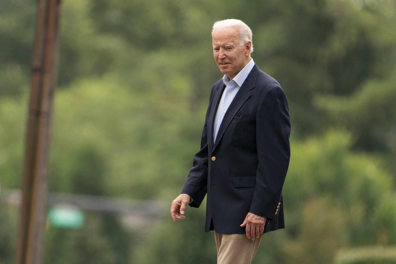 President Joe Biden leaves St. Joseph on the Brandywine Catholic Church after attending Mass, in Wilmington, DE, U.S.,  Aug. 7, 2021. (AP Photo)