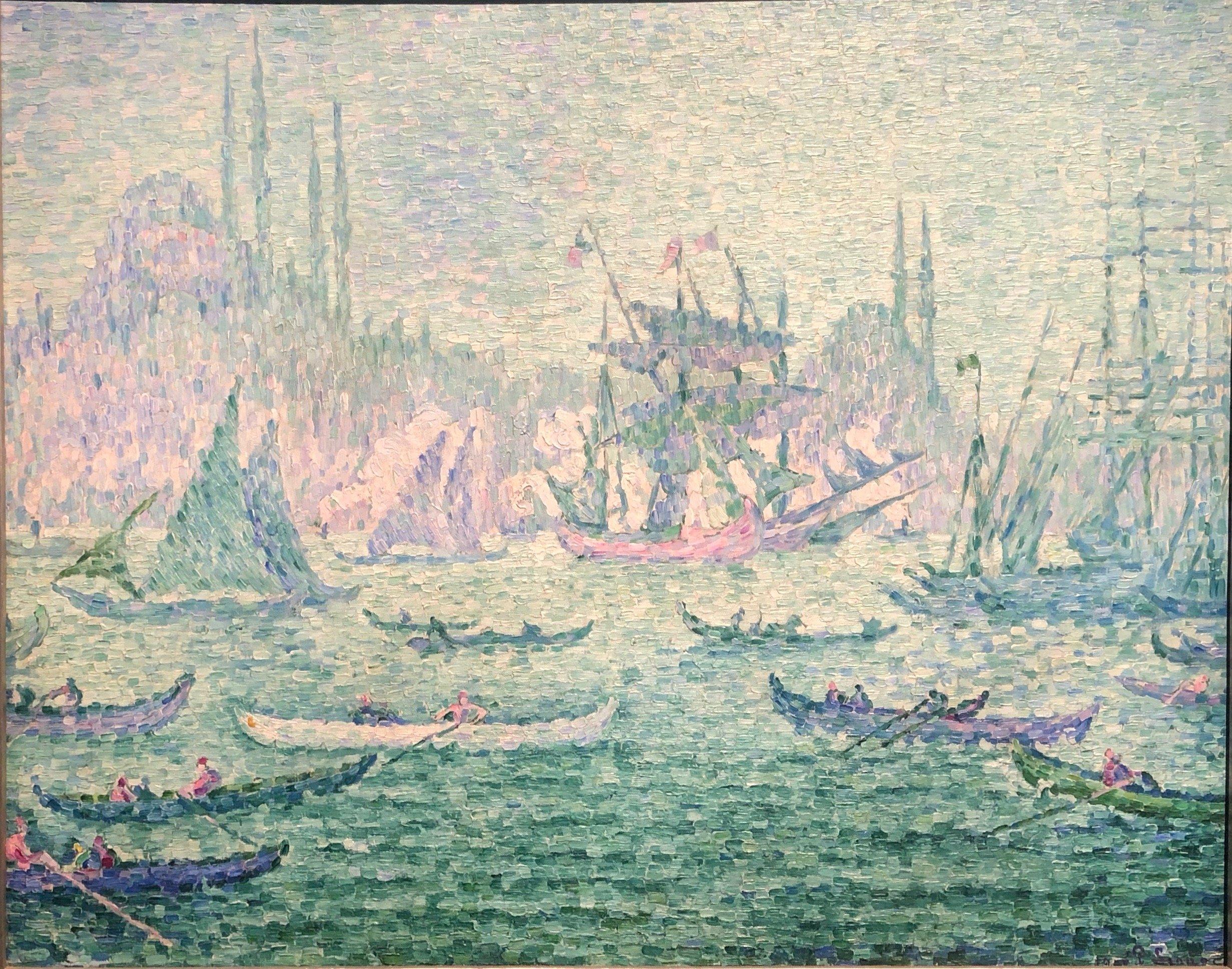 Paul Signac, 'View of the Golden Horn (The Caïques),' 1907. (Courtesy of Wallraf Richartz Museum)