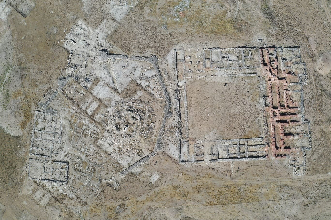 An aerial view from the archaeological site of Kuşaklı, Sivas, central Turkey, Aug. 6, 2021. (IHA Photo)