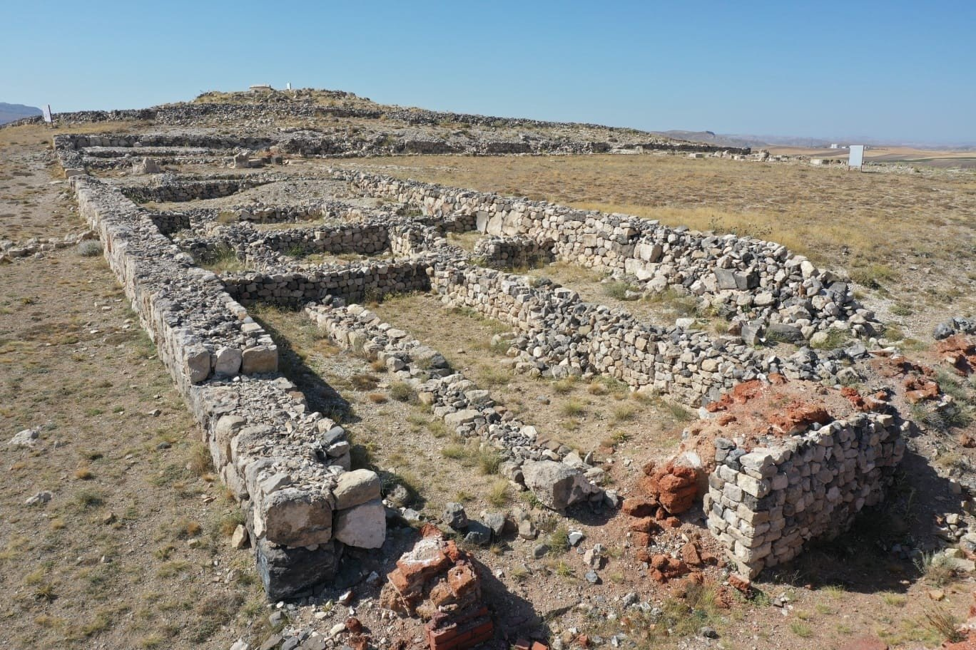 A view from the archaeological site of Kuşaklı, Sivas, central Turkey, Aug. 6, 2021. (IHA Photo)