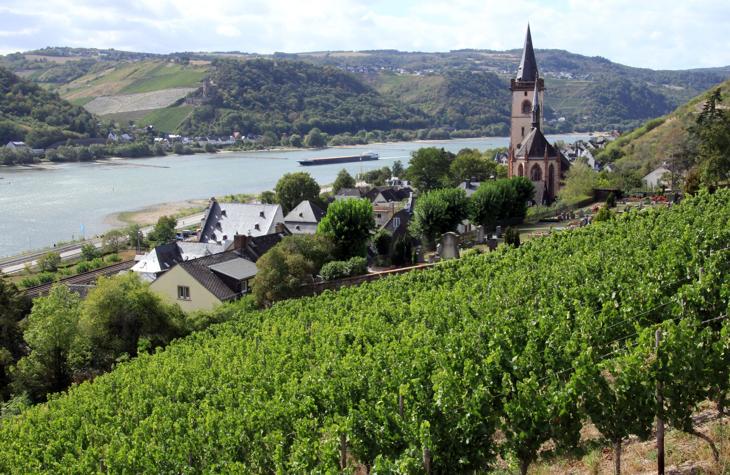 The wine village of Lorch am Rhein is a good starting point for exploring the Wisper valley in western Germany. (DPA Photo)