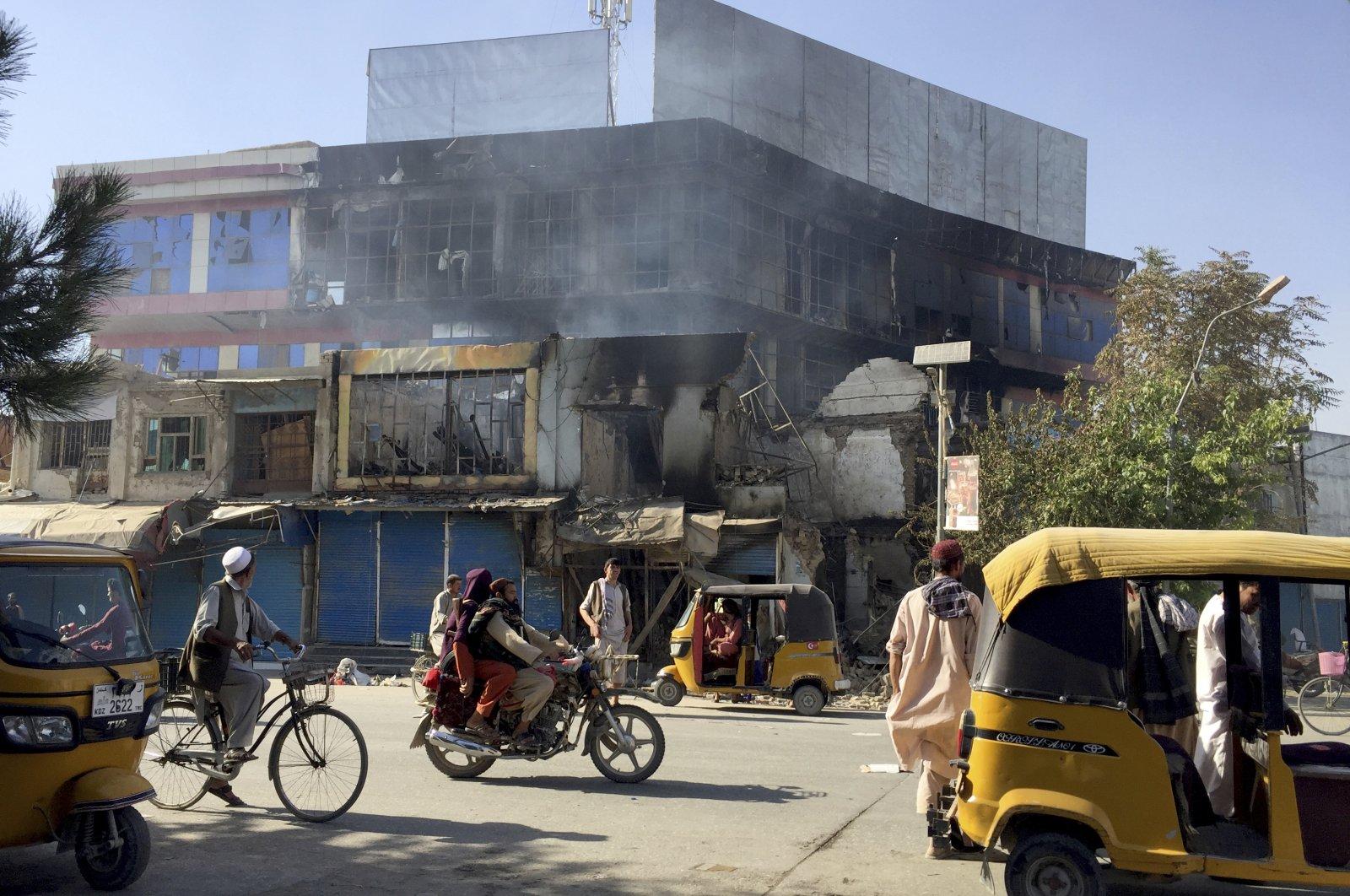 Taliban take over radio station after capturing Afghan city