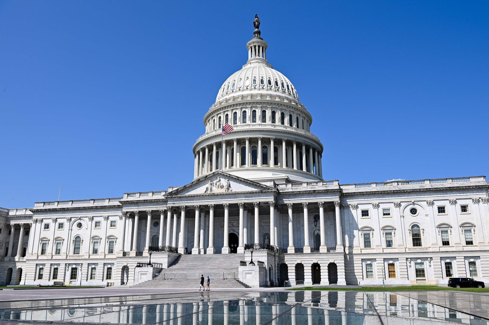 The dome of the U.S. Capitol is seen in Washington, D.C., on Aug. 8, 2021. (AFP Photo)