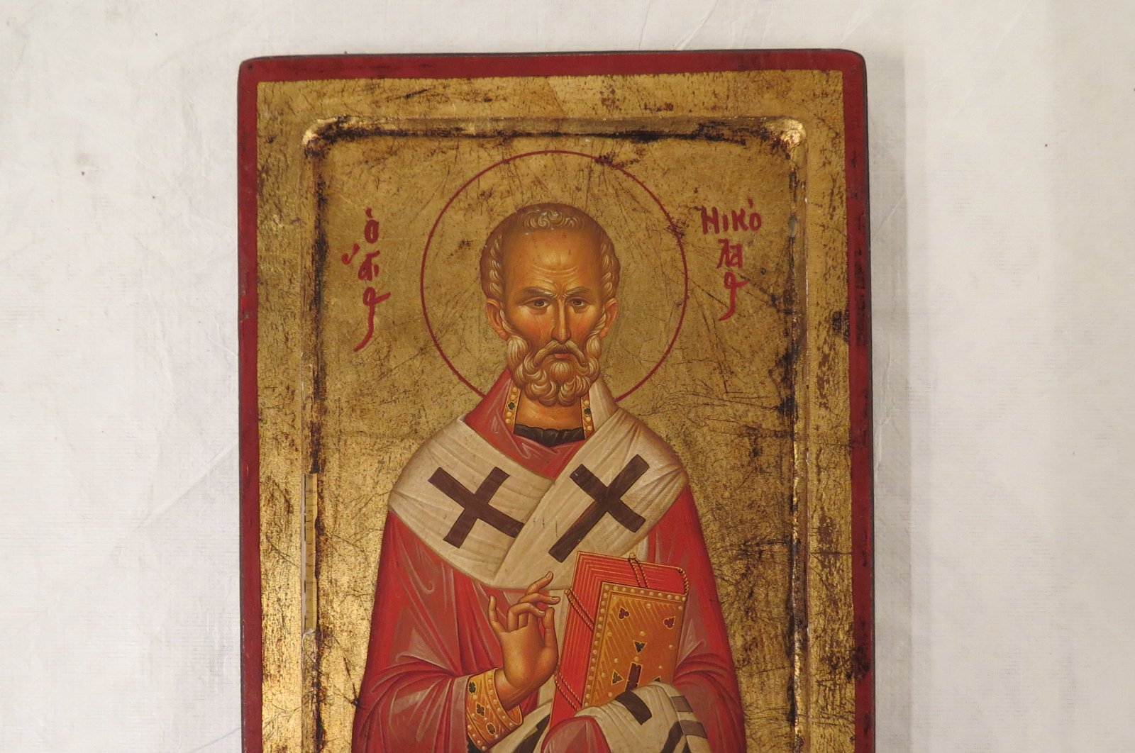 An icon stolen from the Gökçeada churches. (Courtesy of Turkey's Ministry of Culture and Tourism)