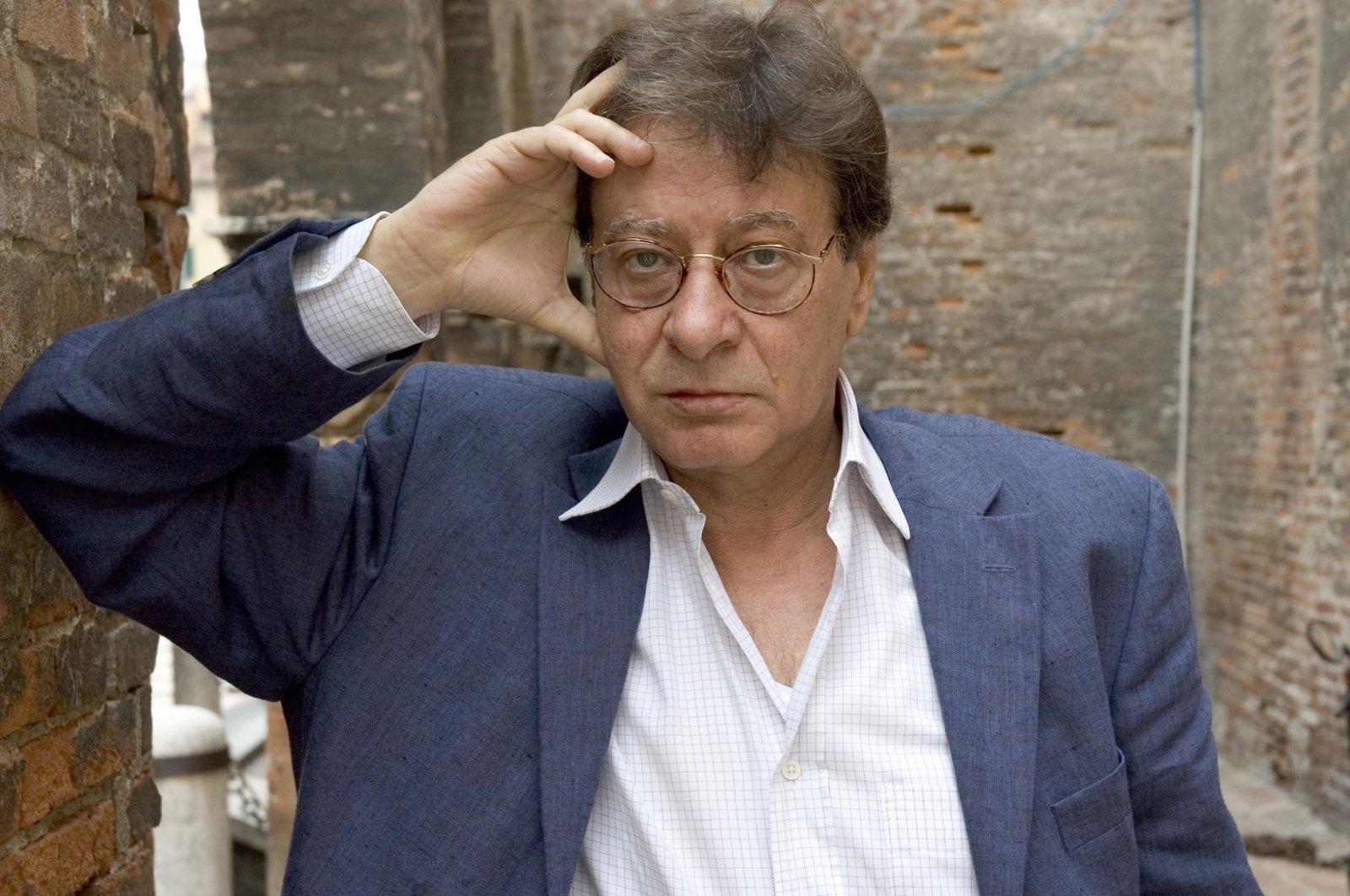 Mahmoud Darwish, Palestinian, poet, writer, novelist, portrait, Turin, Italy, 2005. (Getty Images)