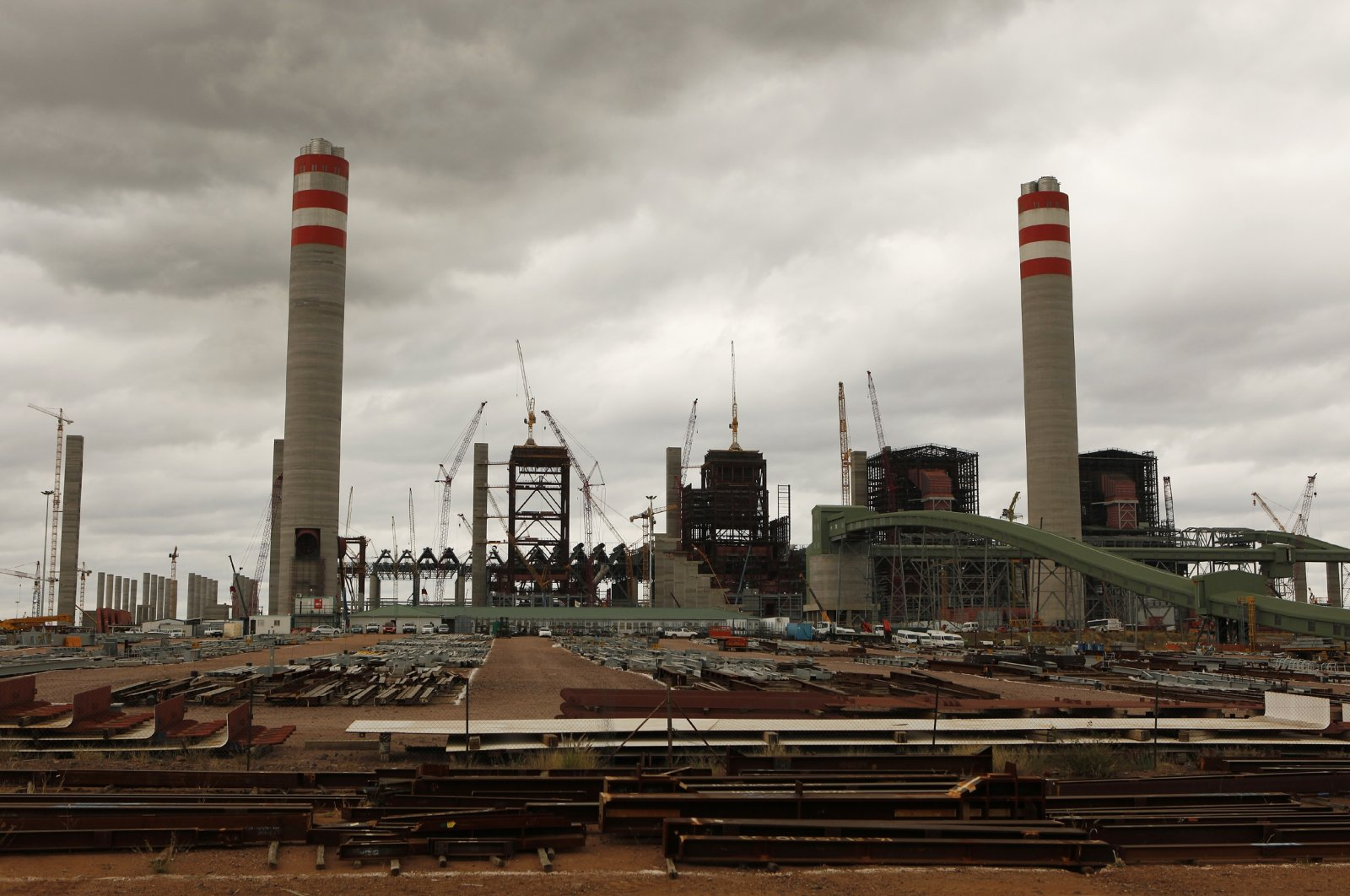 A general view of the construction site at the Medupi power station in Lephalele, South Africa, April 11, 2013. (Reuters Photo)