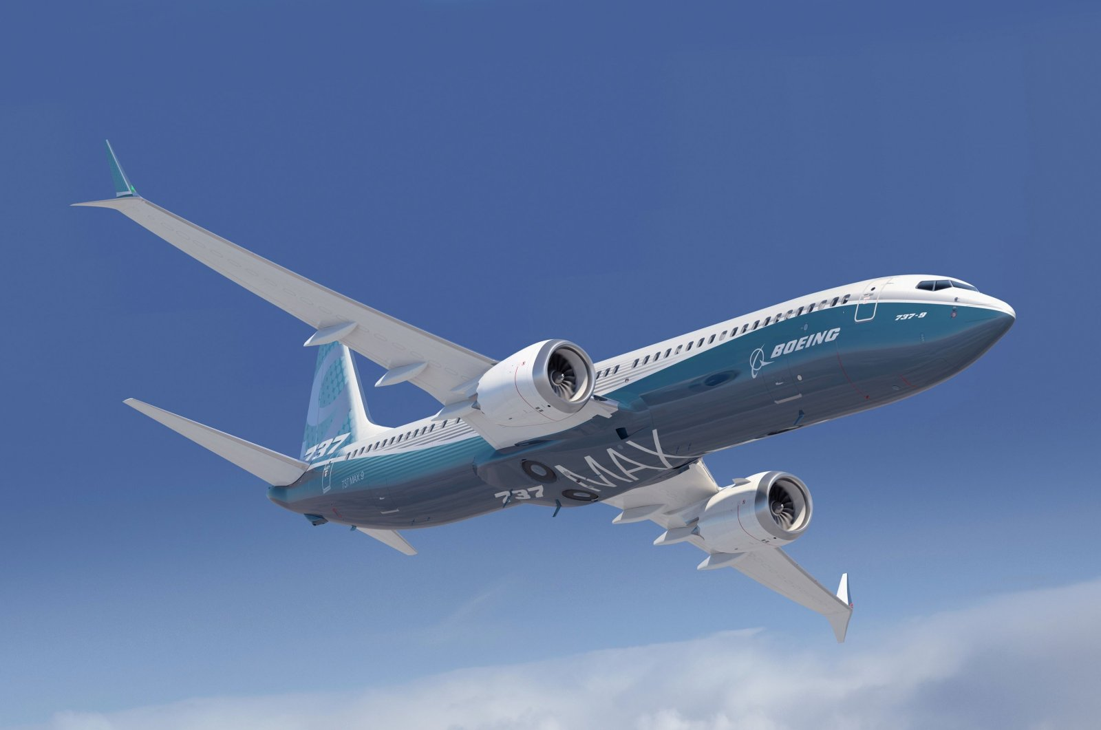 A Boeing 737-Max plane is seen in this image provided Aug. 9, 2021. (IHA Photo)