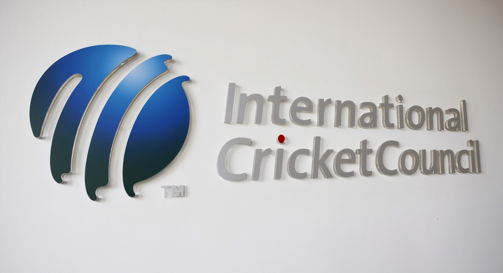 The International Cricket Council logo is seen in this undated photo at its headquarters in Dubai, UAE.