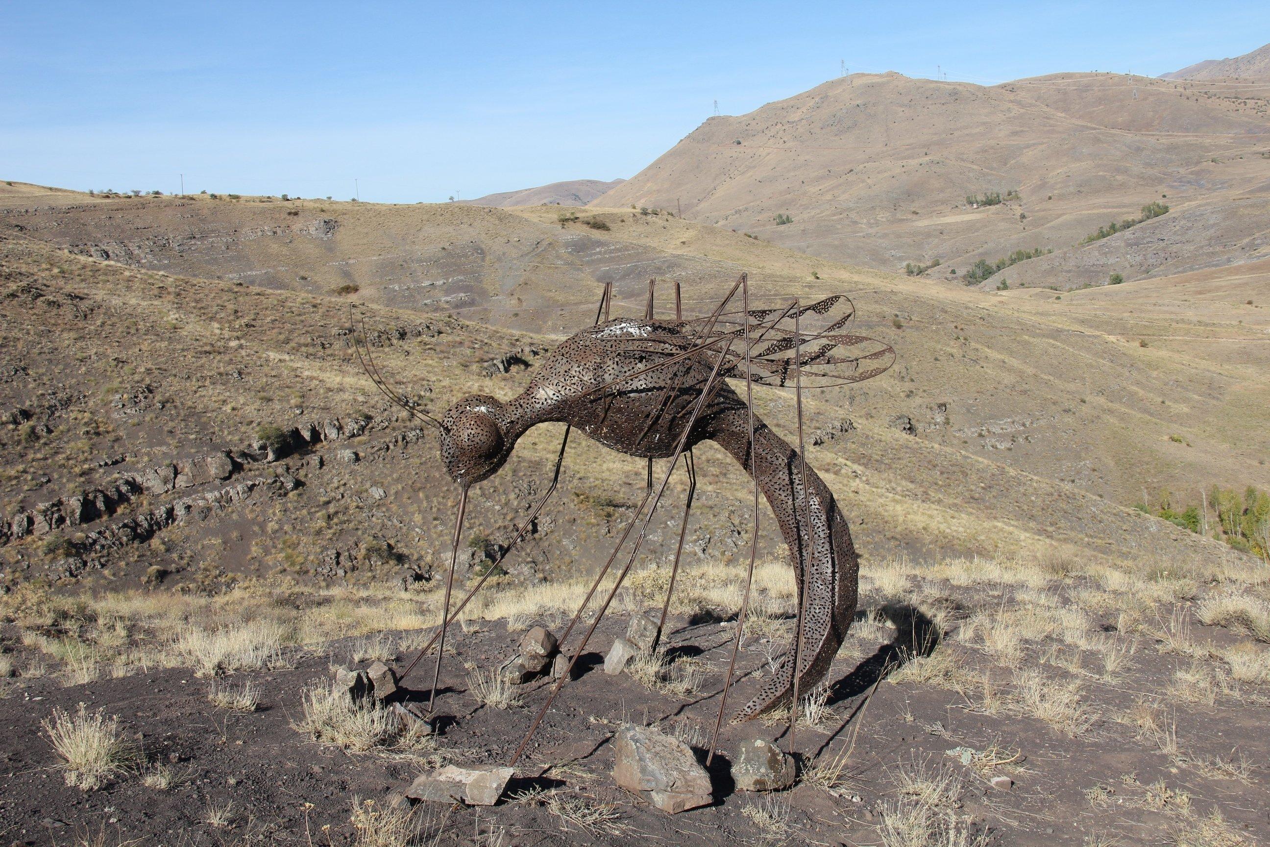 "İbrahim Koç, ""Sivrisinek,"" (""Mosquito""), the barren crest of Baksı Museum, Bayburt, northeastern Turkey."