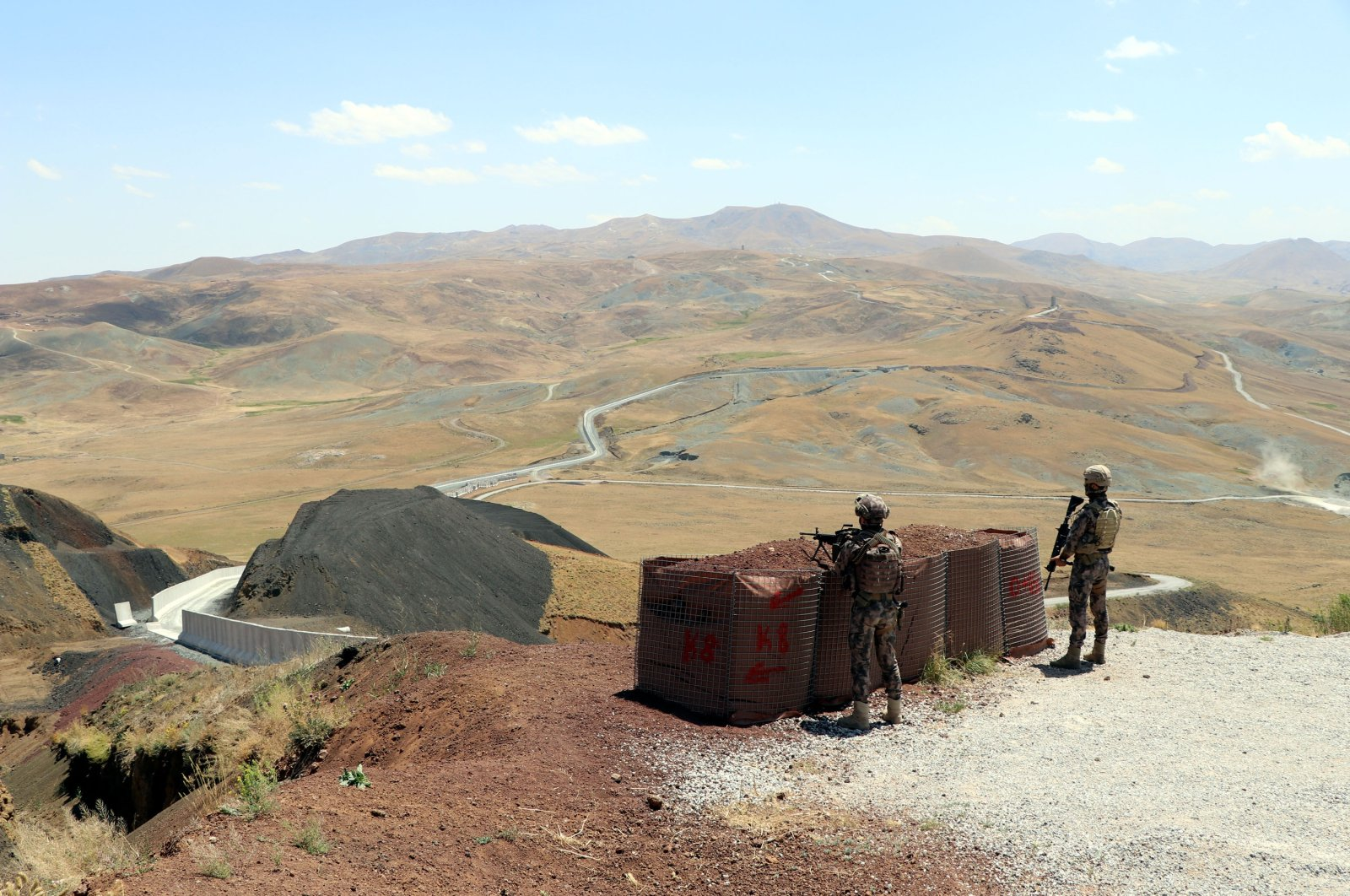 A view from Turkey's eastern border with Iran, Van, Turkey, July 27, 2021. (DHA Photo)