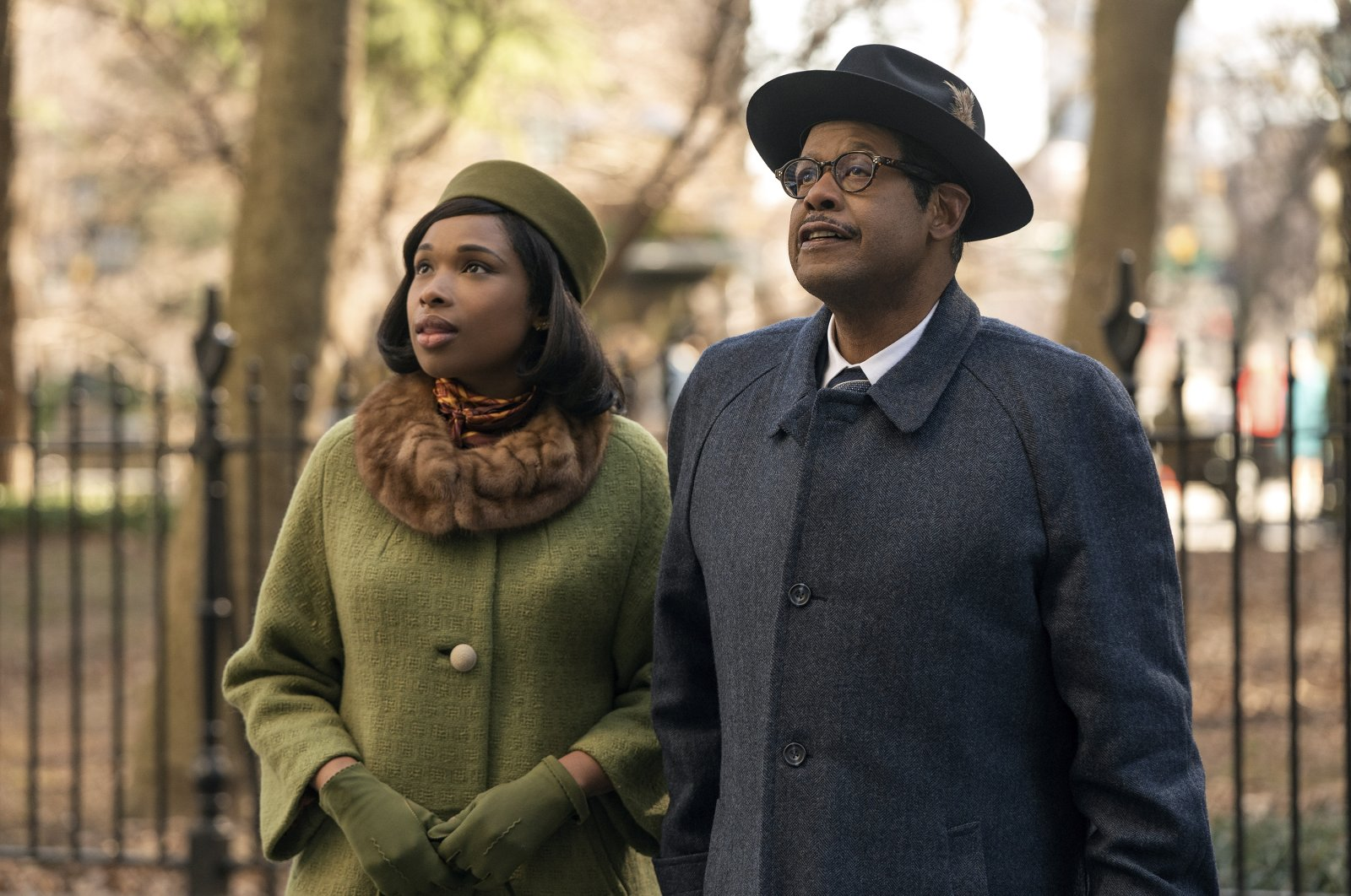 """Jennifer Hudson as Aretha Franklin (L) and Forest Whitaker as C.L. Franklin (R) in a scene from """"Respect."""" (MGM via AP)"""