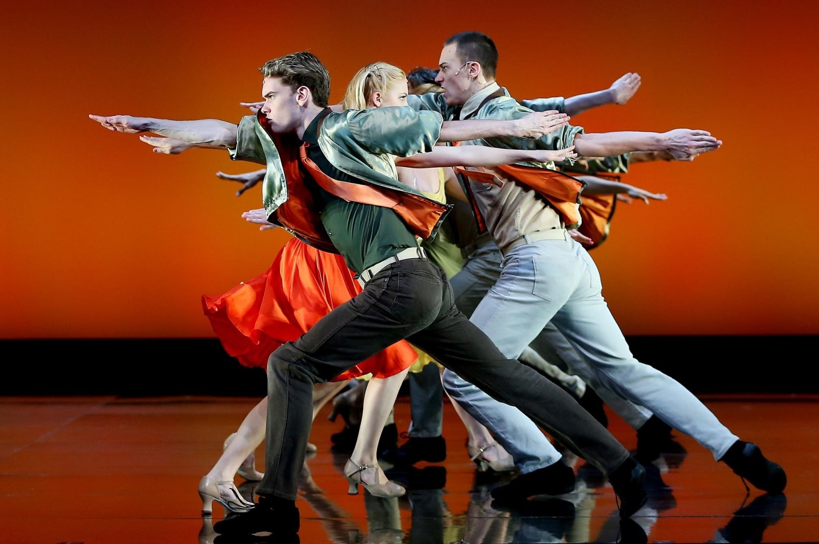 """Actors perform during a media call for a previous version of """"West Side Story"""" at Sydney Opera House, Sydney, Australia, August 16, 2019. (Getty Images)"""