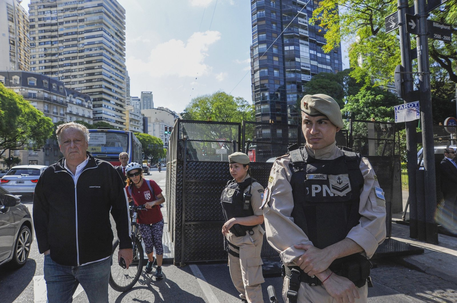 Border police reinforce security outside Saudi Arabia's embassy in Buenos Aires, Argentina, Wednesday, Nov. 28, 2018. (Getty Images)