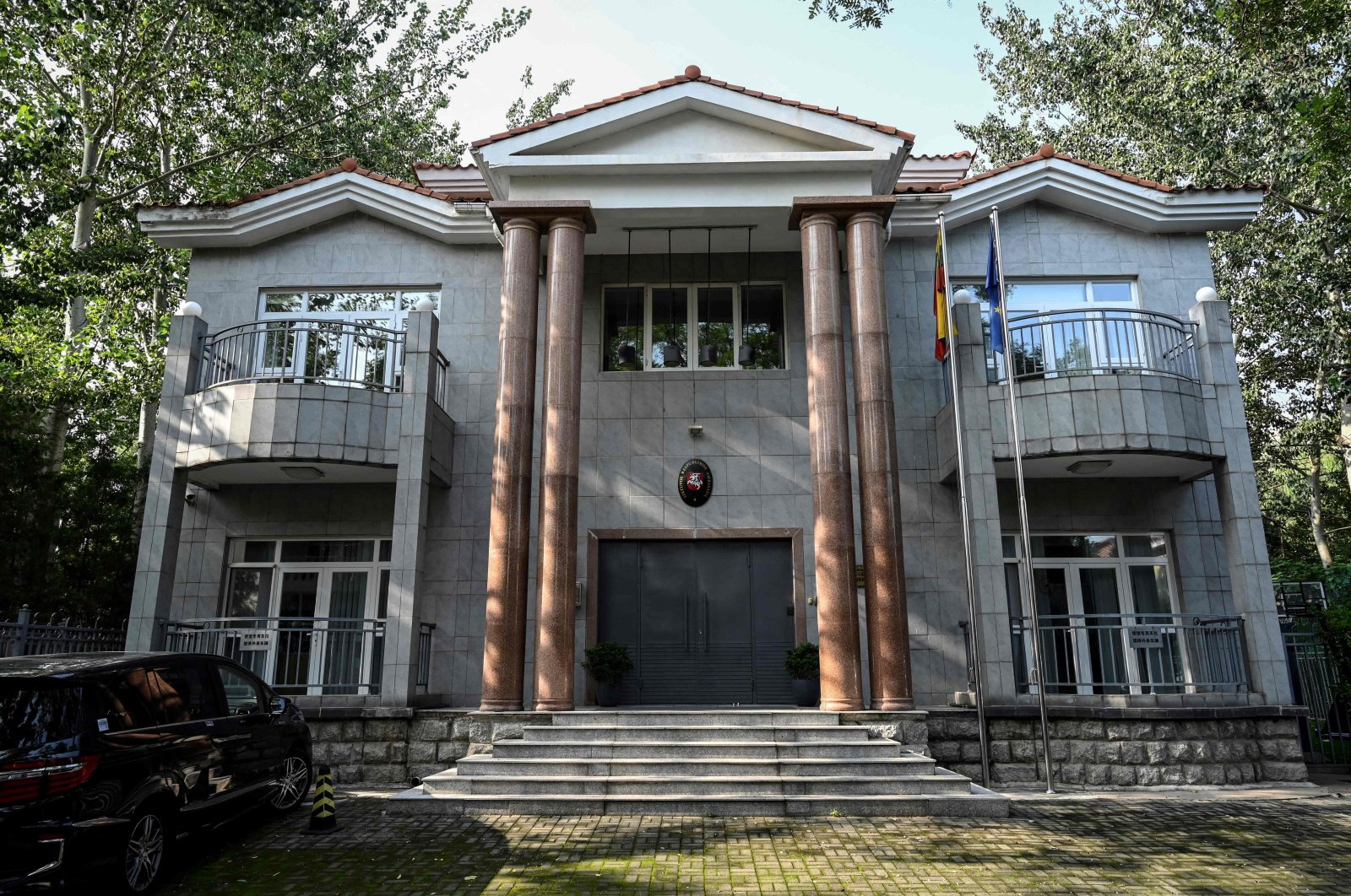 This general view shows the Lithuanian Embassy in Beijing, China, August 10, 2021. (AFP Photo)