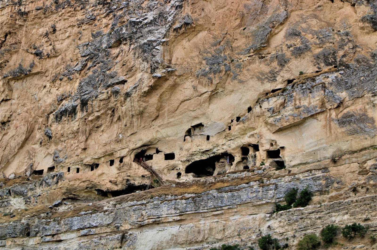 A view of the cave rooms in Tunceli, eastern Turkey, Aug. 8, 2021. (İHA Photo)