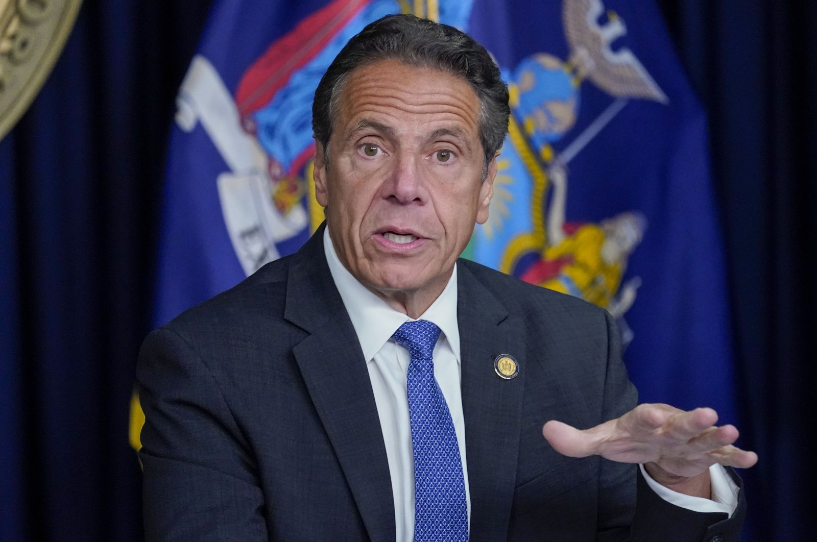 New York Gov. Andrew Cuomo speaks during a news conference in New York, U.S., June 23, 2021. (AP Photo)