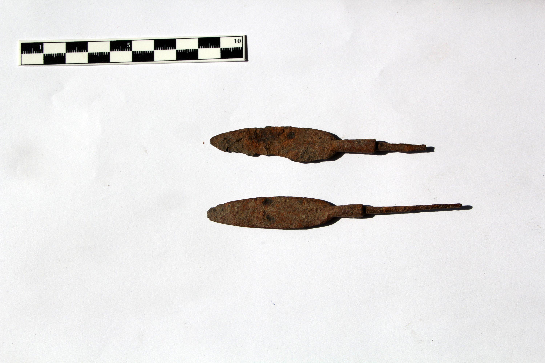 Weapon pieces found in Malazgirt, Muş, eastern Turkey, Aug. 11, 2021. (AA Photo)