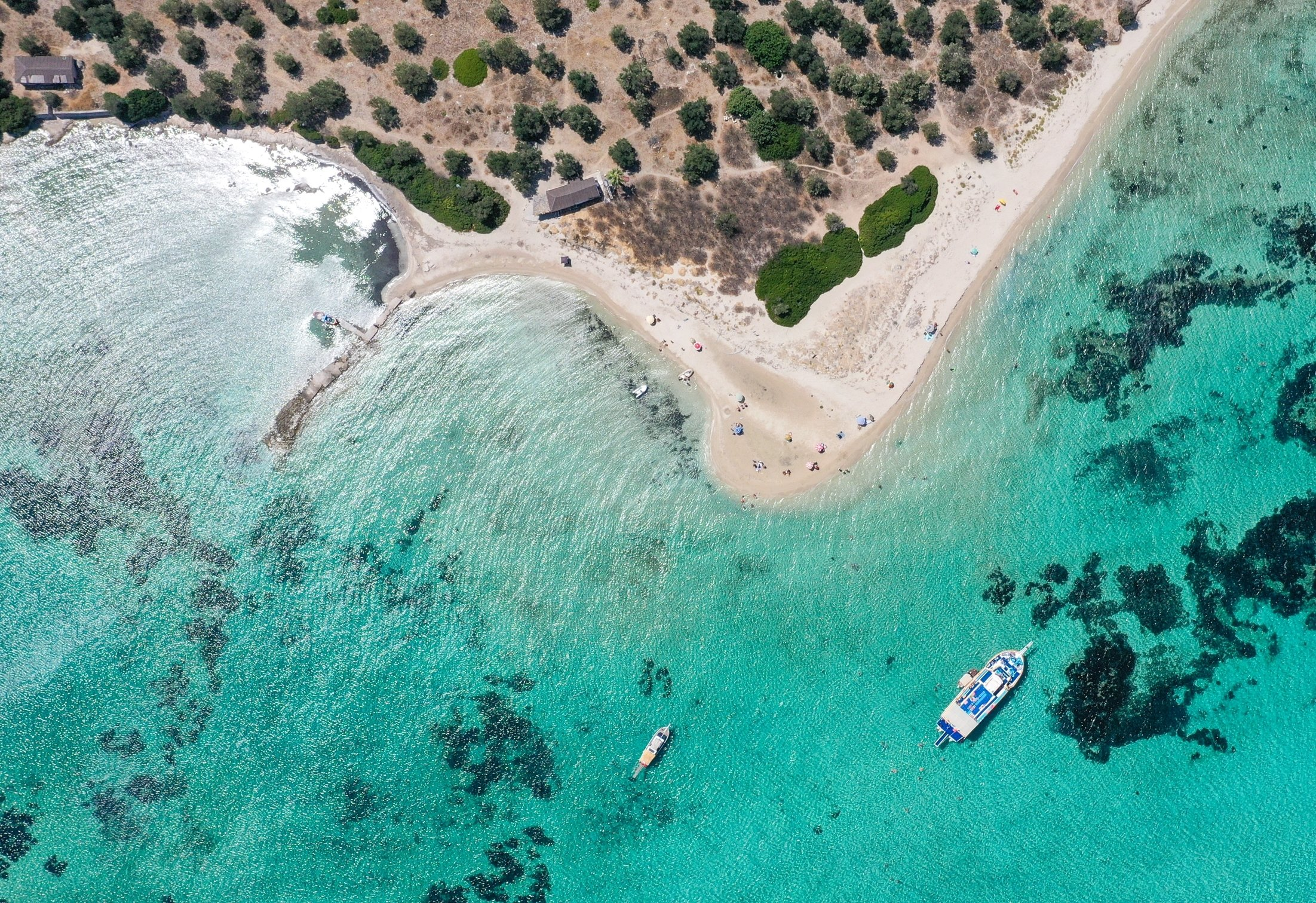 Dikili district of Izmir awaits visitors looking for a peaceful and quiet vacation. (AA Photo)