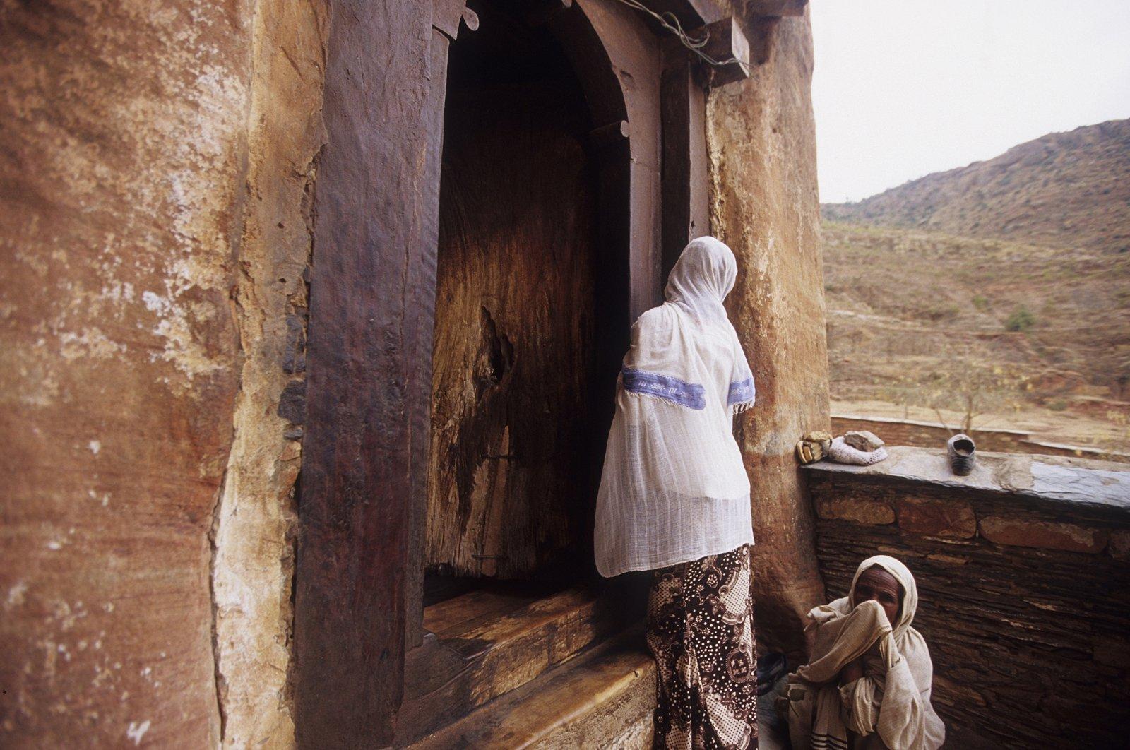 Women attending Sunday mass in Abraha Atsbeha monastery, Tigray, Ethiopia. (Getty Images)