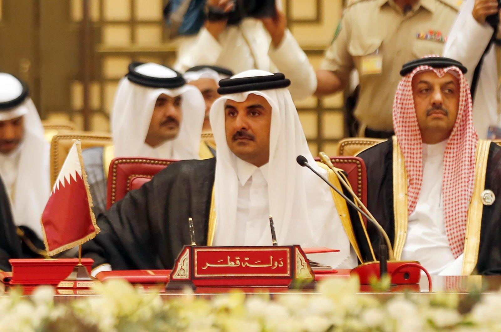 Qatar's Emir Sheikh Tamim bin Hamad Al Thani attending a Gulf Cooperation Council (GCC) summit in the capital of Manama, Bahrain, Dec. 6, 2016. (AFP Photo)