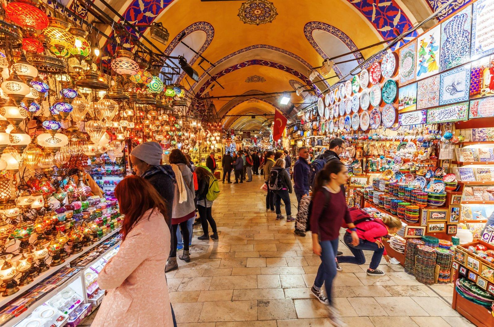People visit the Grand Bazaar, Istanbul, April 10, 2015. (Shutterstock Photo)